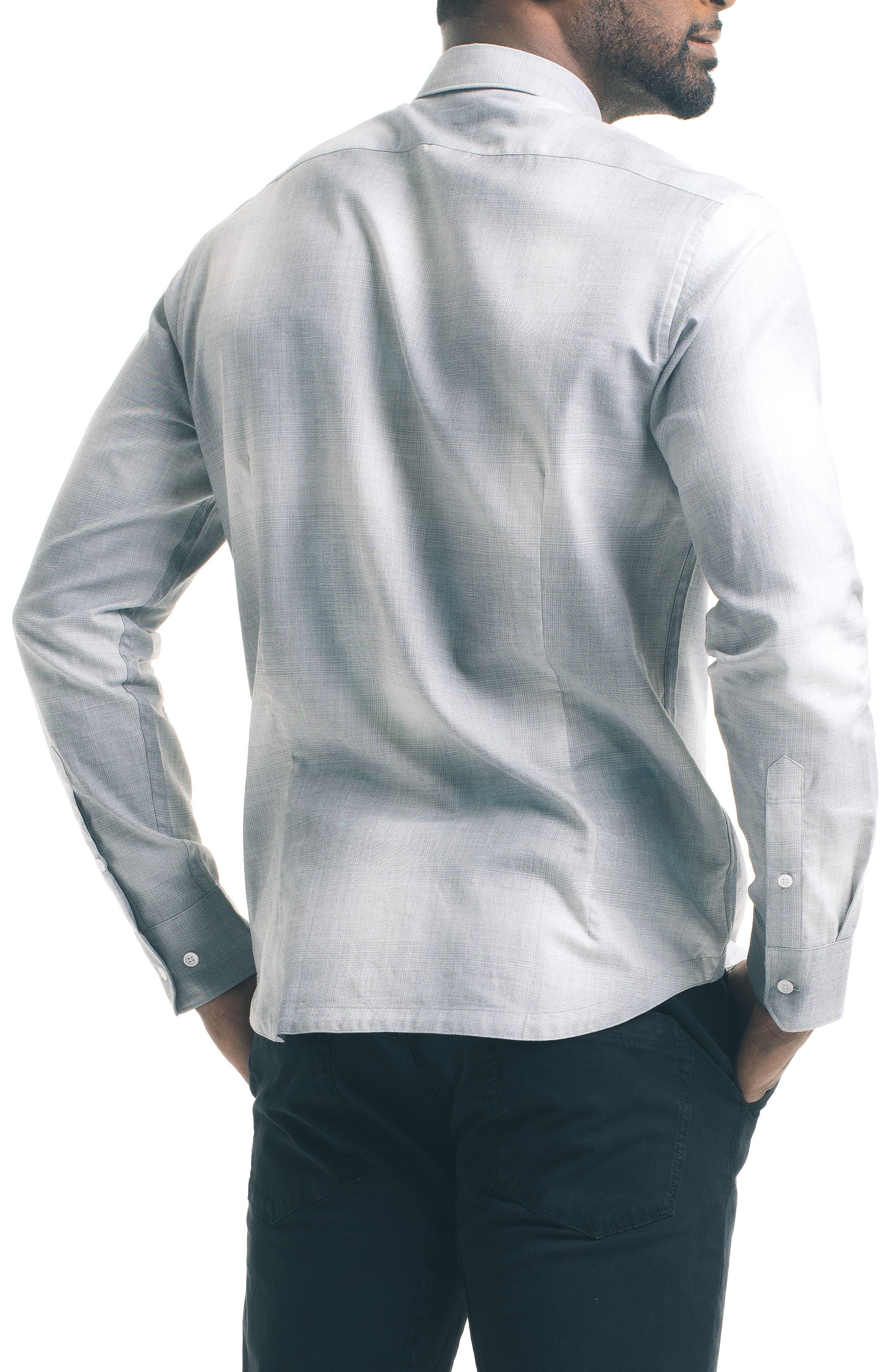 Slim Fit Ombré Check Sport Shirt,                             Alternate thumbnail 2, color,                             020