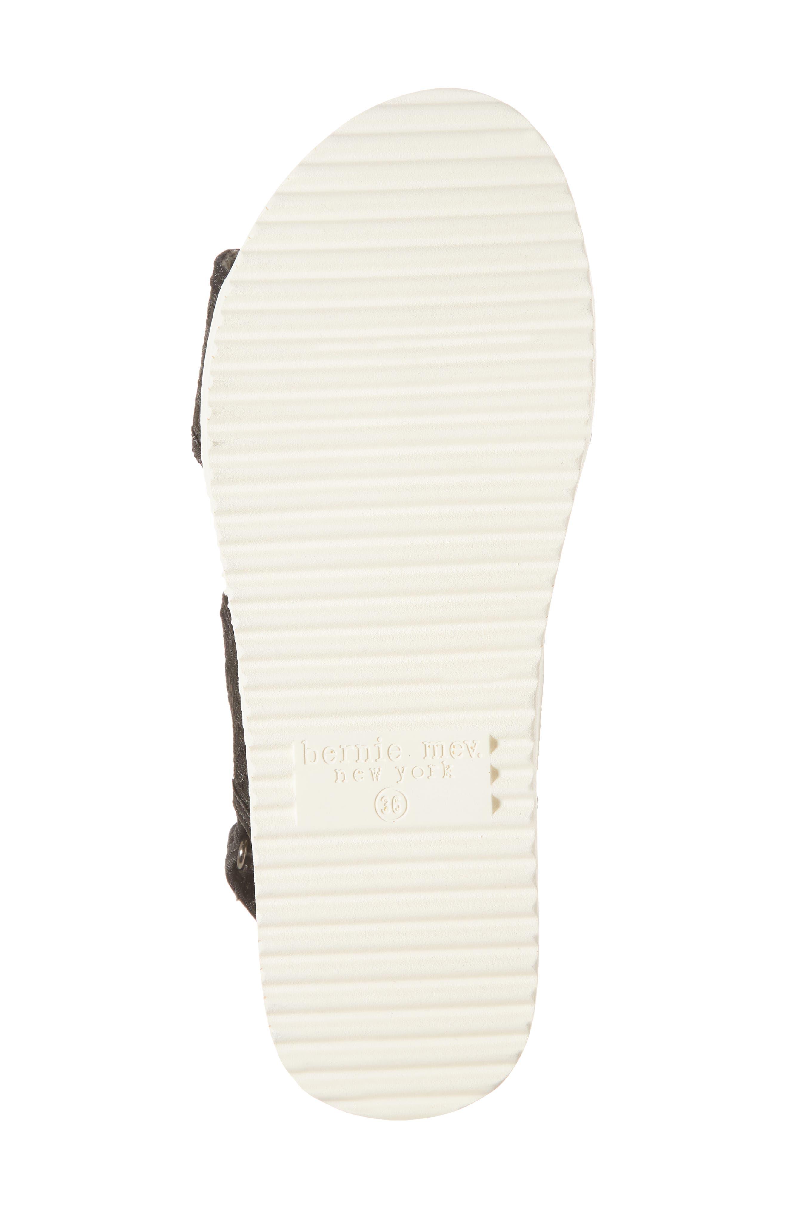 Fiji Sandal,                             Alternate thumbnail 6, color,                             BLACK/ BLACK LEATHER