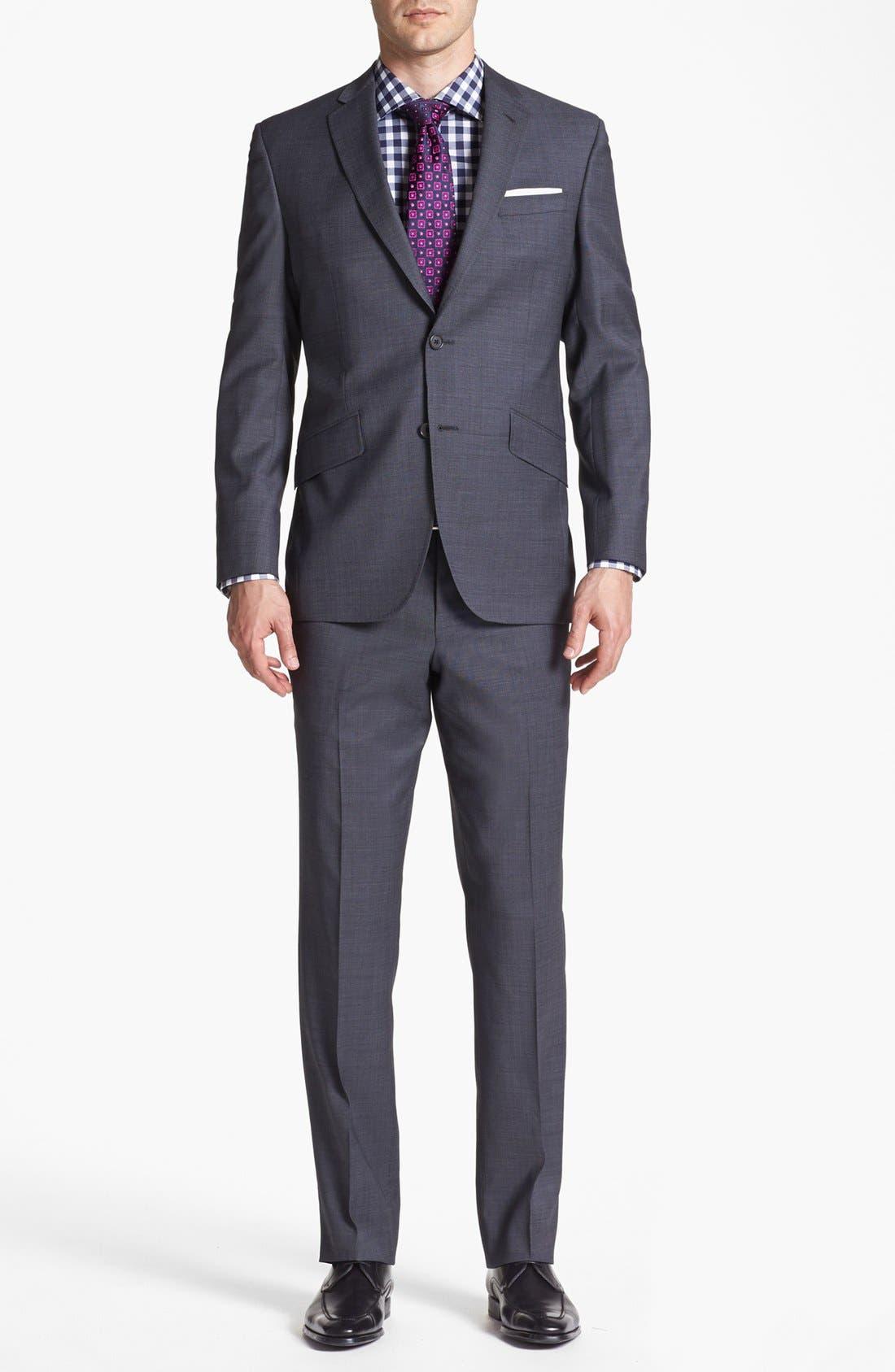 Jones Trim Fit Wool Suit,                             Main thumbnail 3, color,