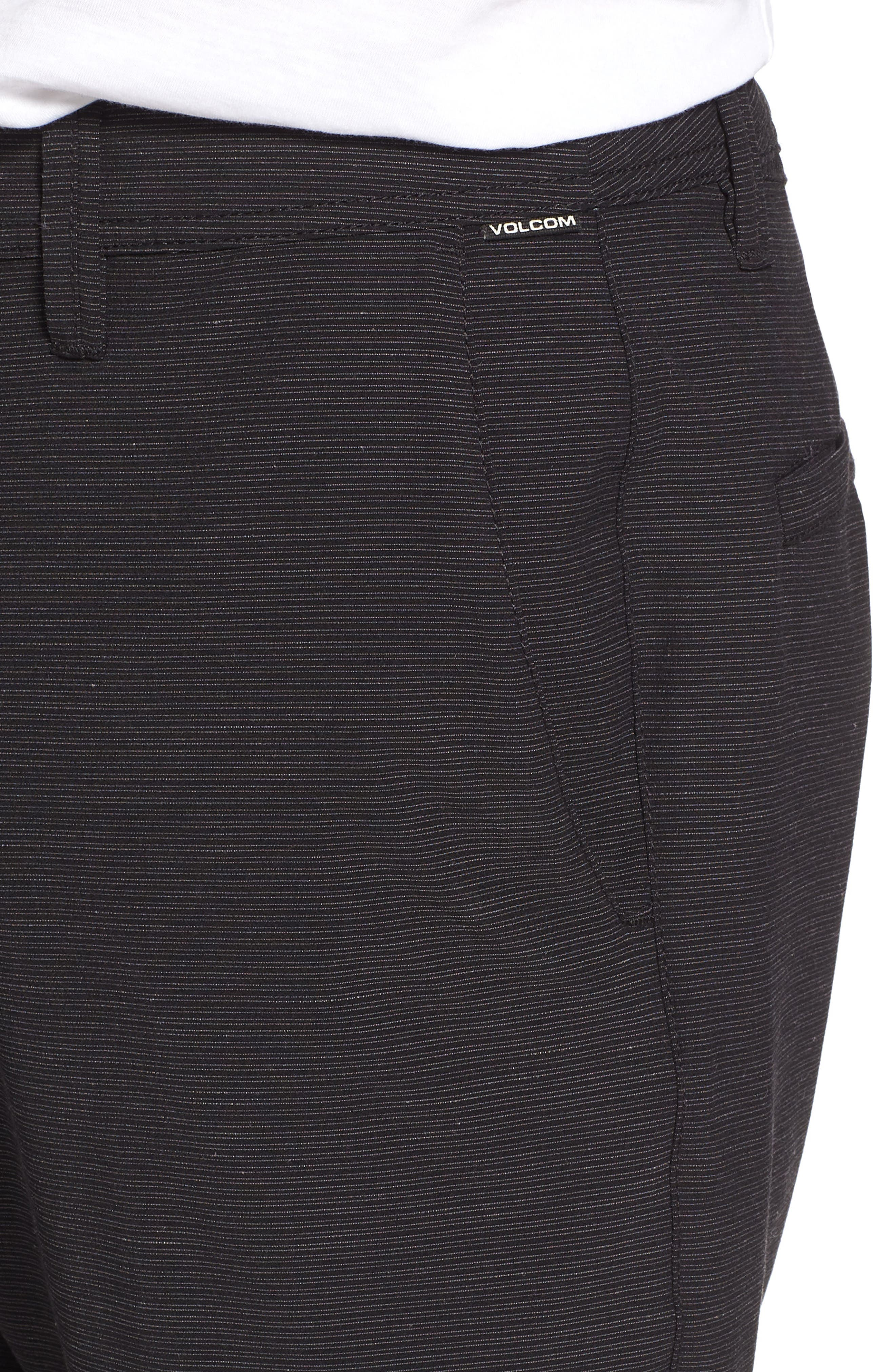 Surf N' Turf Slub Hybrid Shorts,                             Alternate thumbnail 4, color,                             BLACK