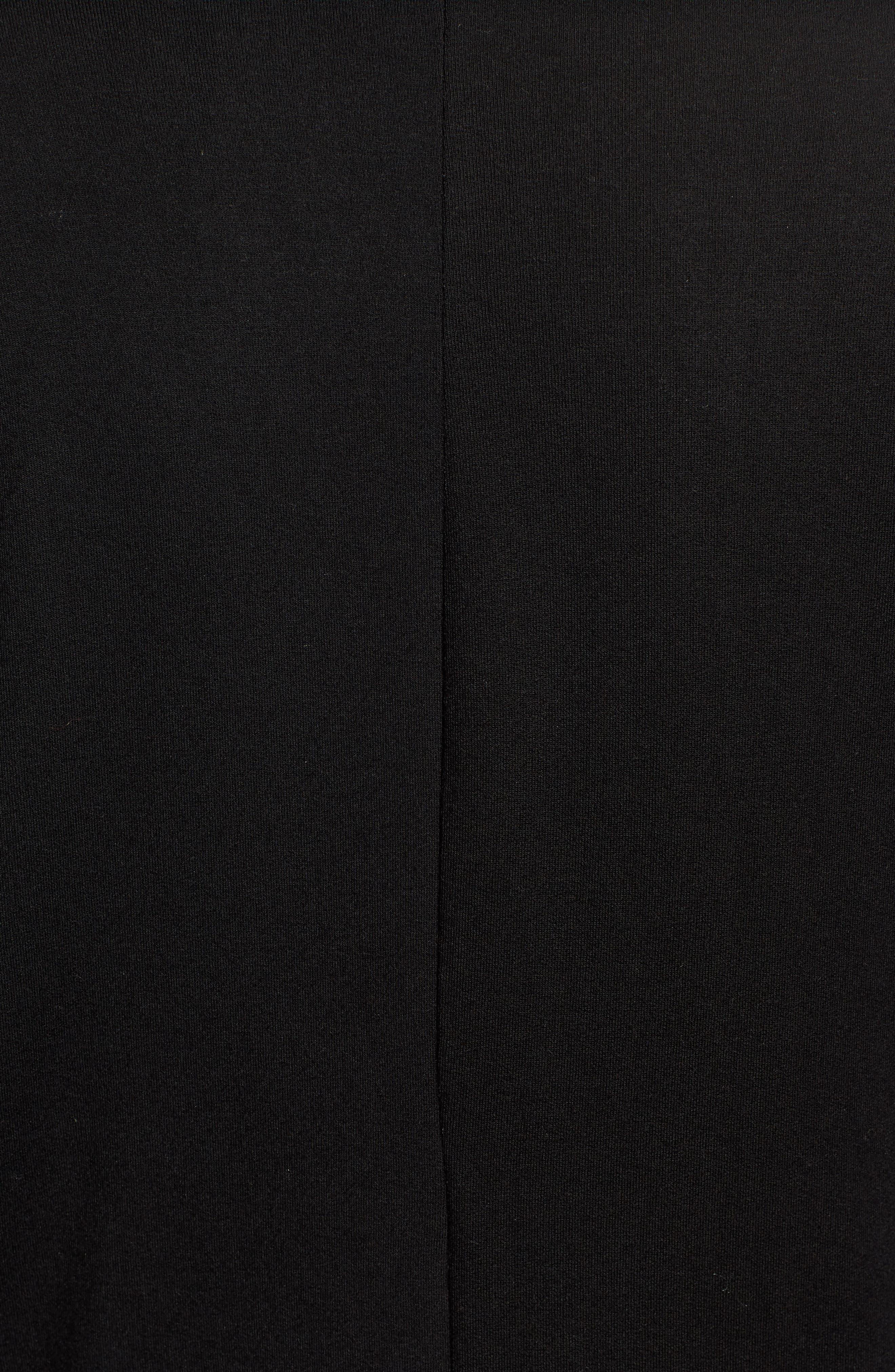 Drape Front Dolman Sleeve Top,                             Alternate thumbnail 5, color,                             BLACK