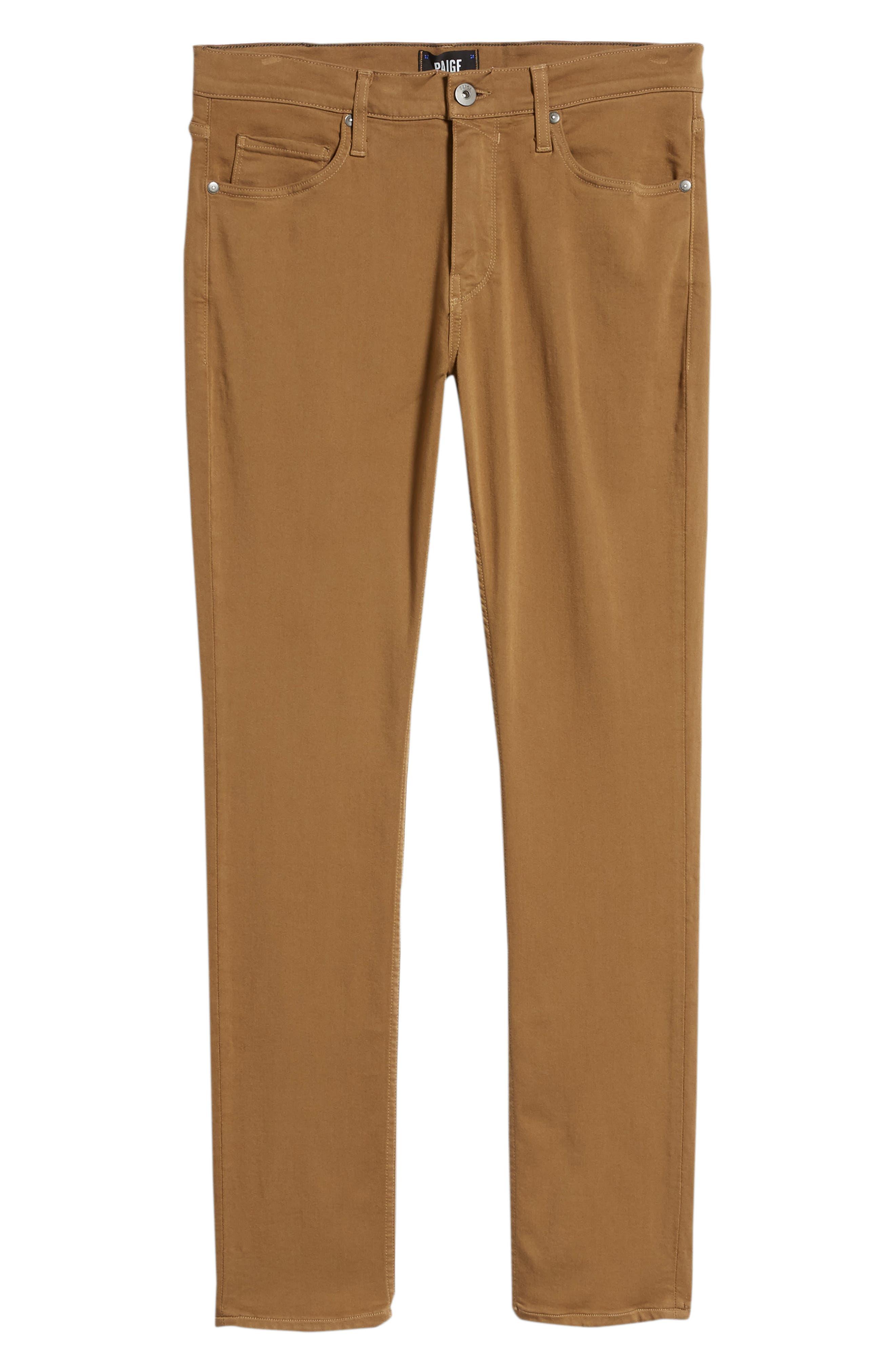 Transcend - Normandie Straight Leg Jeans,                             Alternate thumbnail 6, color,                             LAUREL TAN