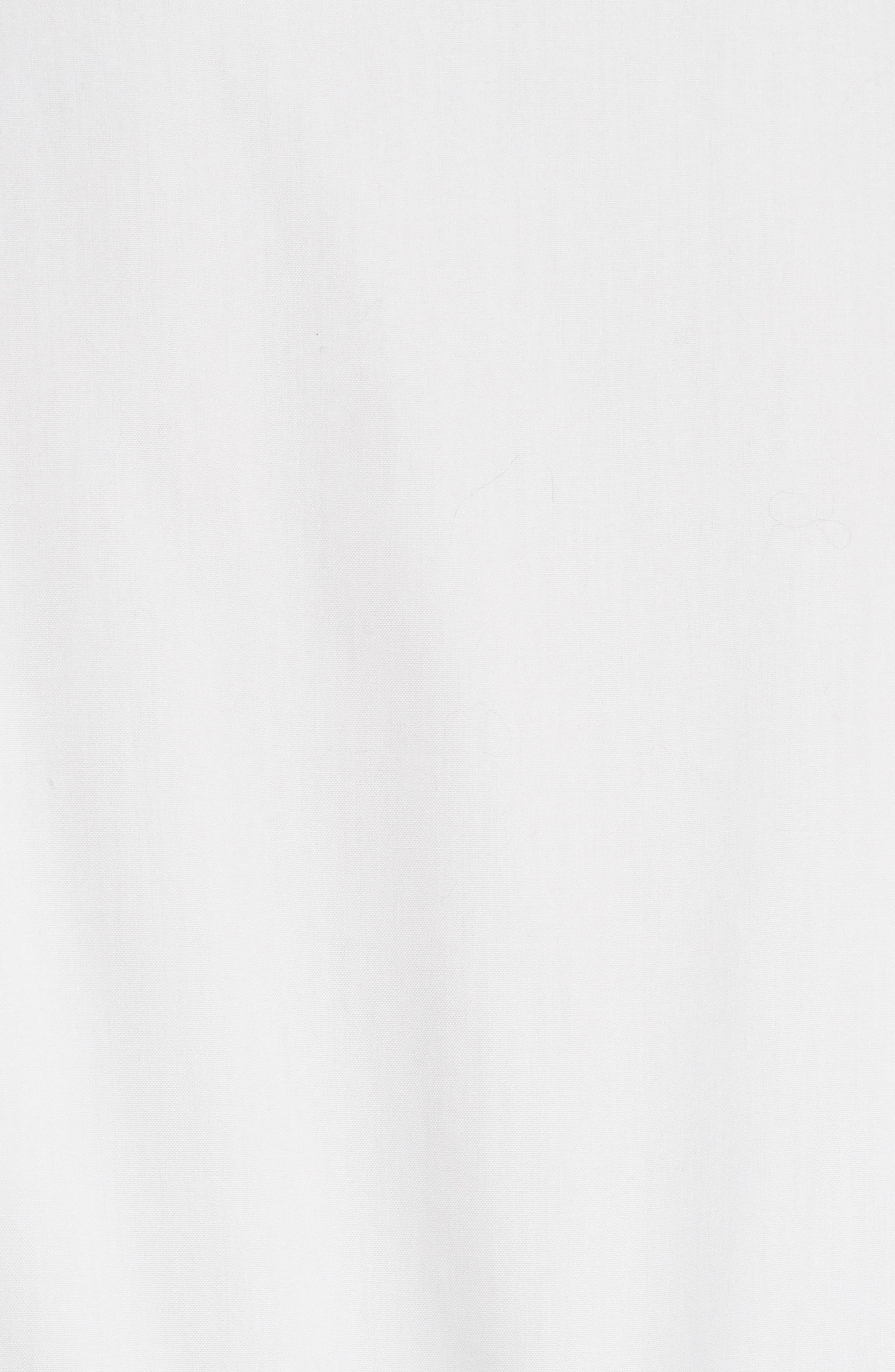 Cotton Oxford Peplum Blouse,                             Alternate thumbnail 6, color,                             100