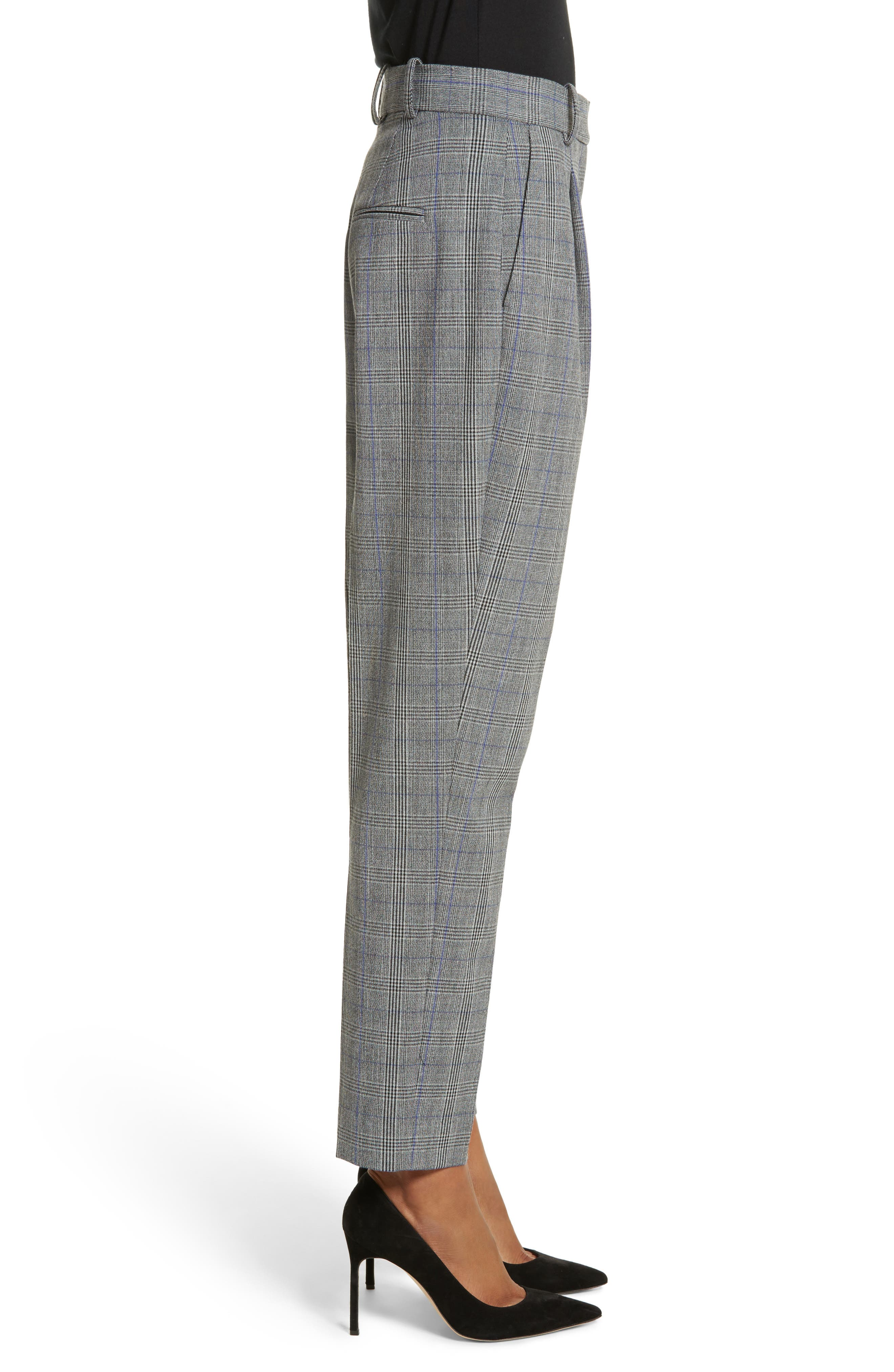 Check Pleat Front Pants,                             Alternate thumbnail 3, color,                             014