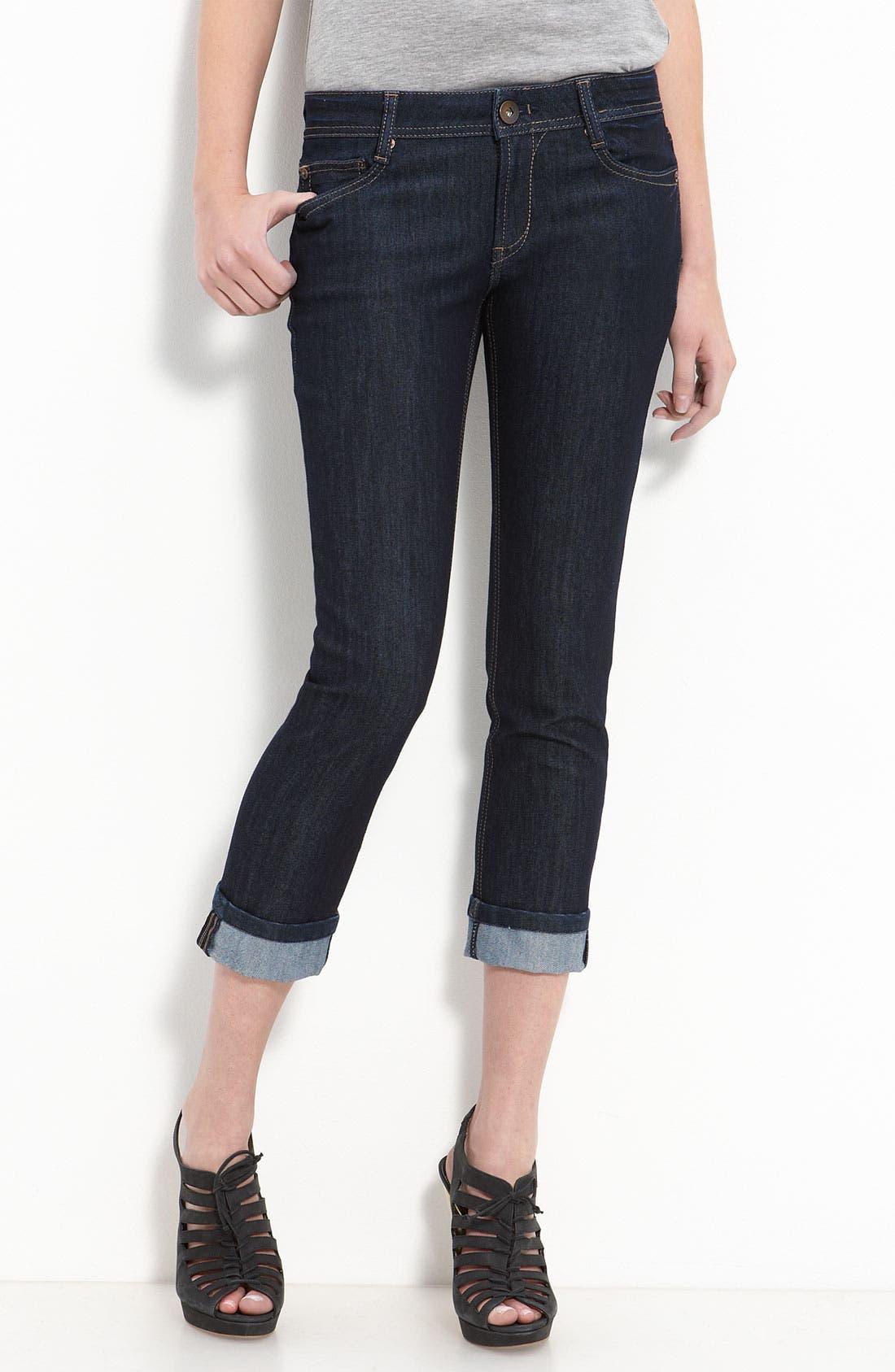 'Tony Highrise' Crop Jeans,                             Alternate thumbnail 2, color,                             405
