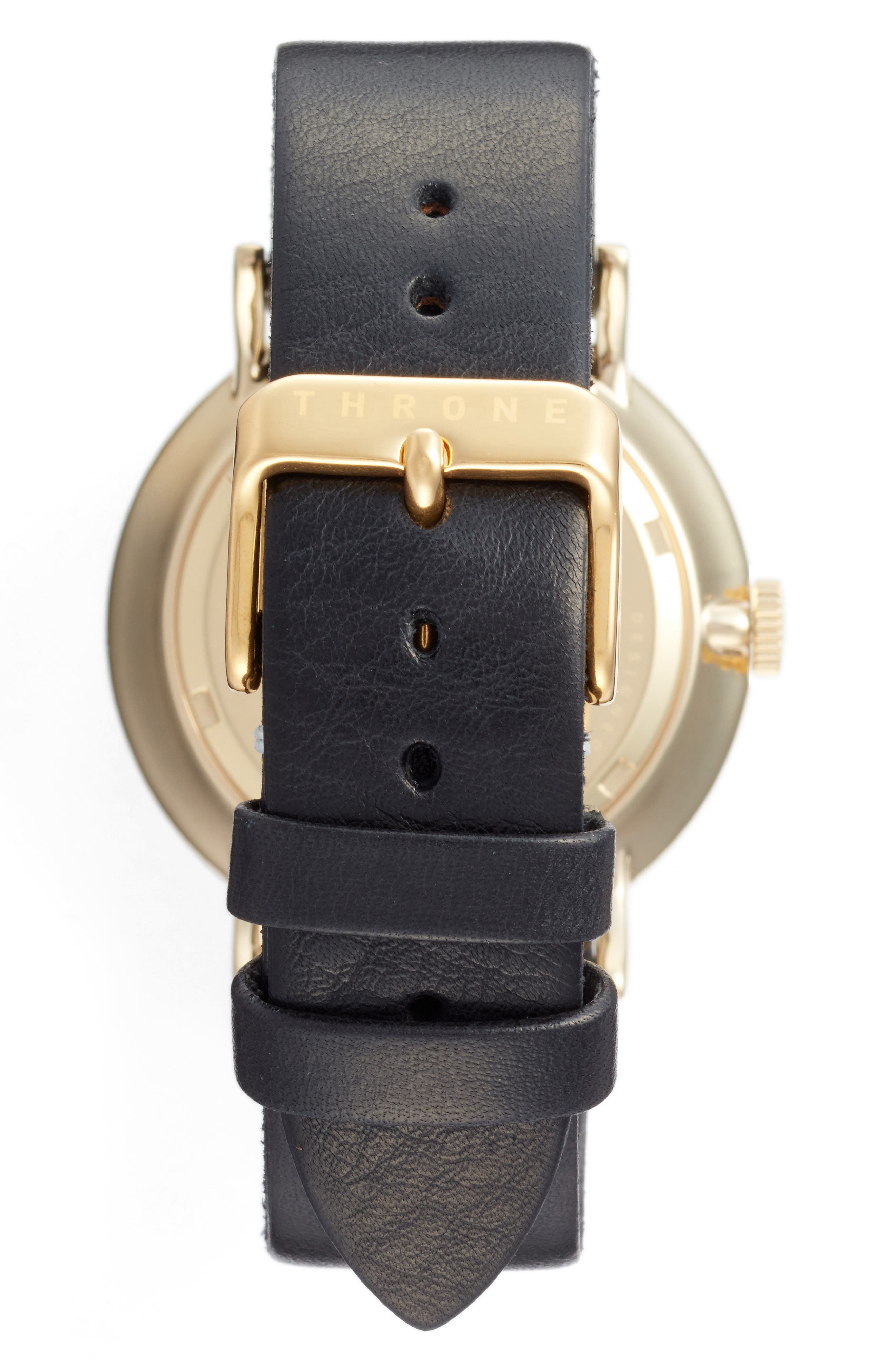 1.0 Leather Strap Watch, 40mm,                             Alternate thumbnail 6, color,