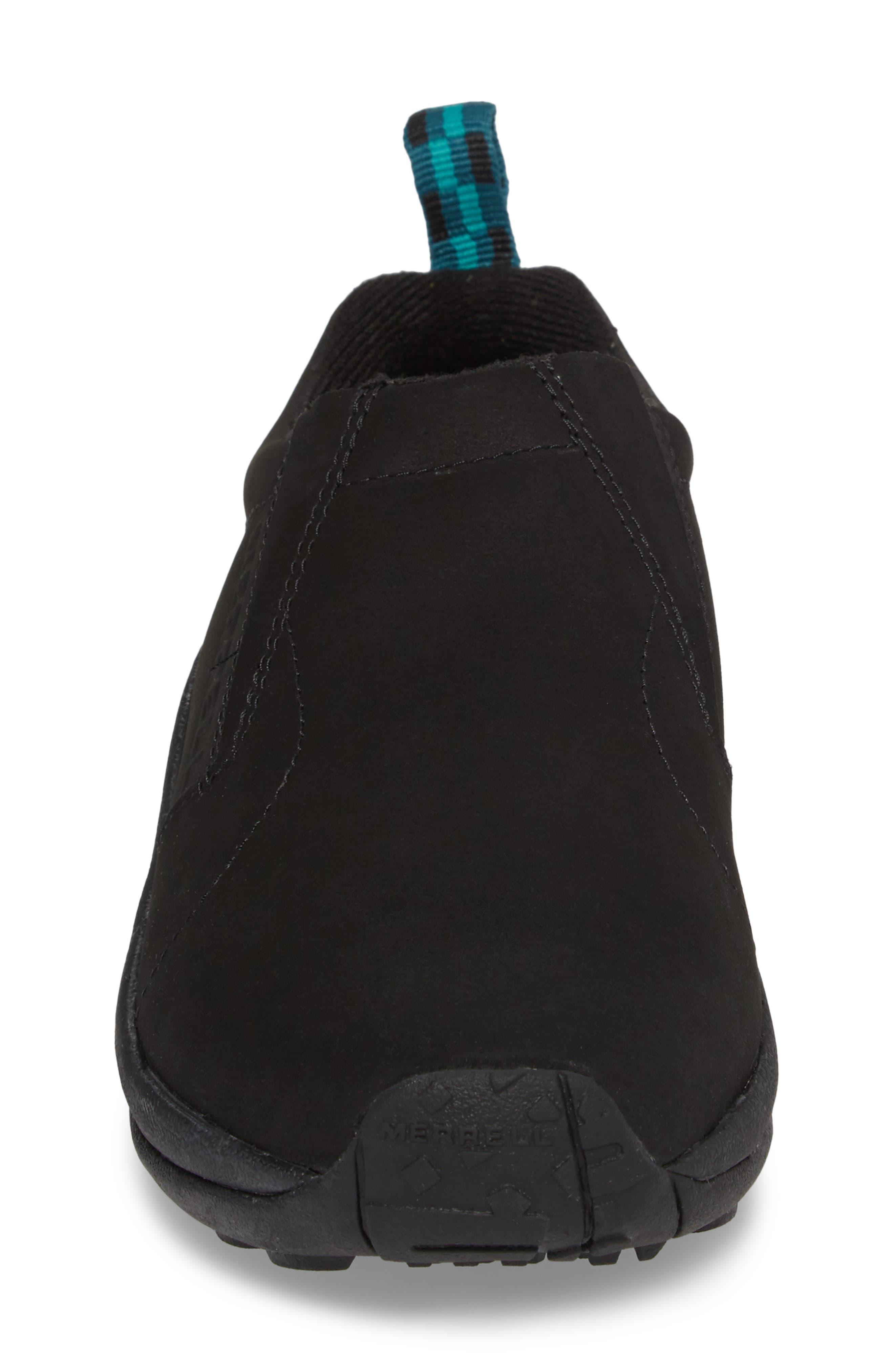 Jungle Moc Nubuck Sneaker,                             Alternate thumbnail 4, color,                             BLACK LEATHER