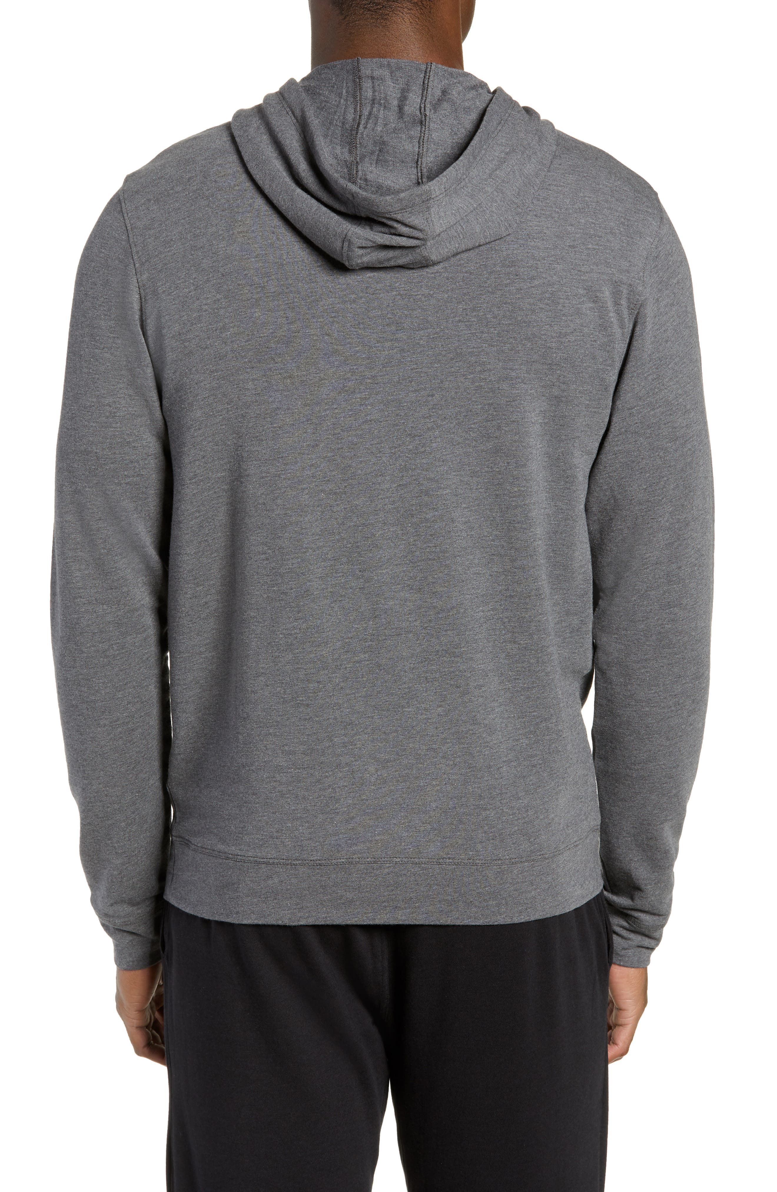 Legacy Hooded Pullover,                             Alternate thumbnail 2, color,                             BLACK