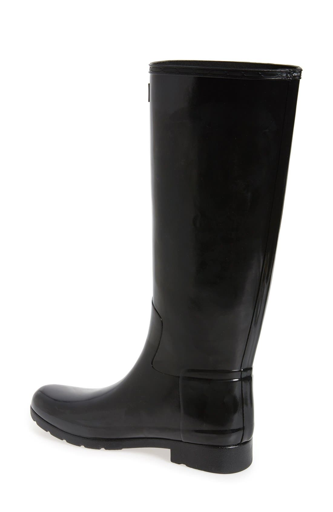 'Original Refined' High Gloss Rain Boot,                             Alternate thumbnail 15, color,