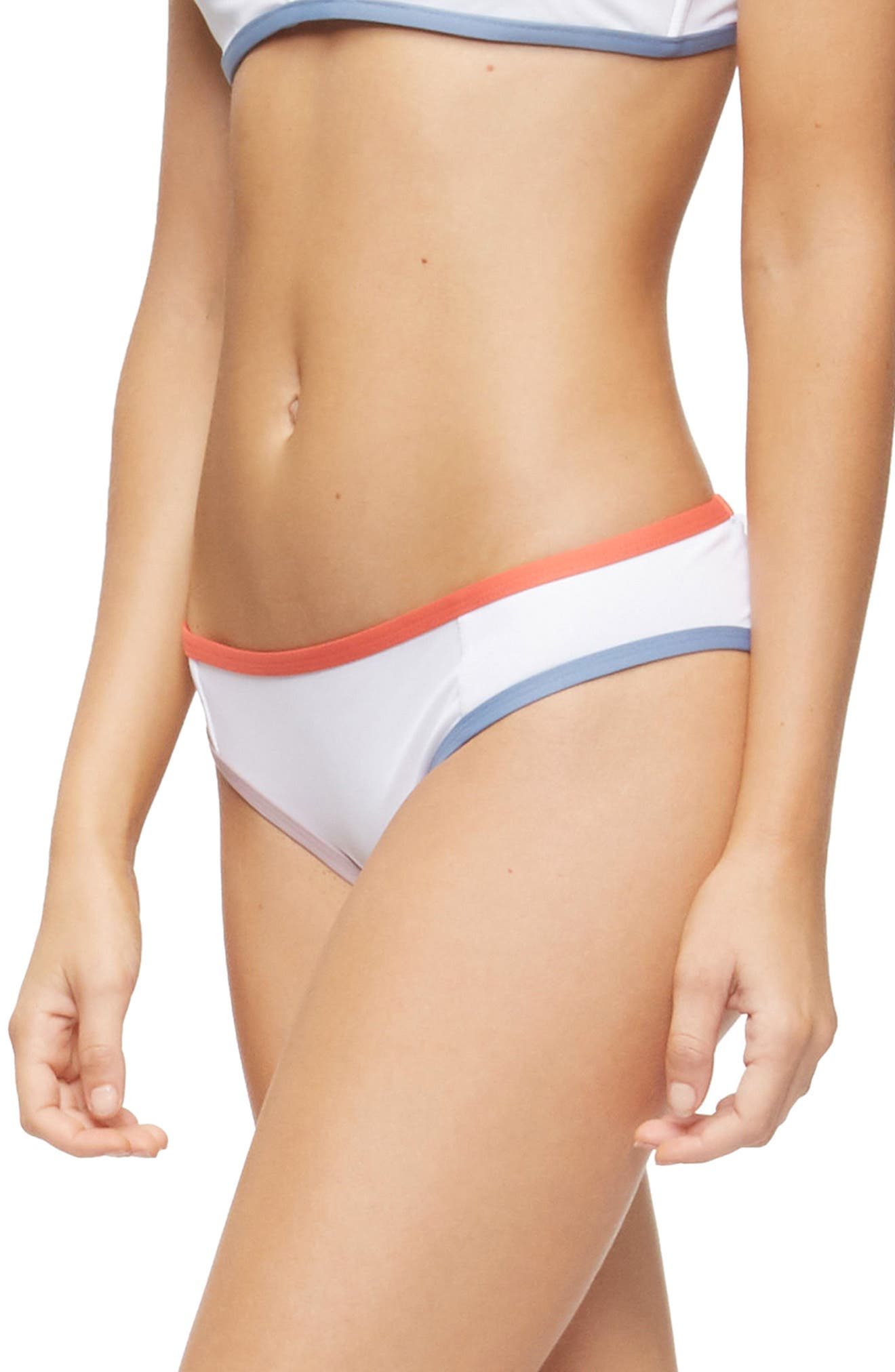 Jayden Bikini Bottoms,                             Alternate thumbnail 3, color,                             WHITE COLOR BLOCK
