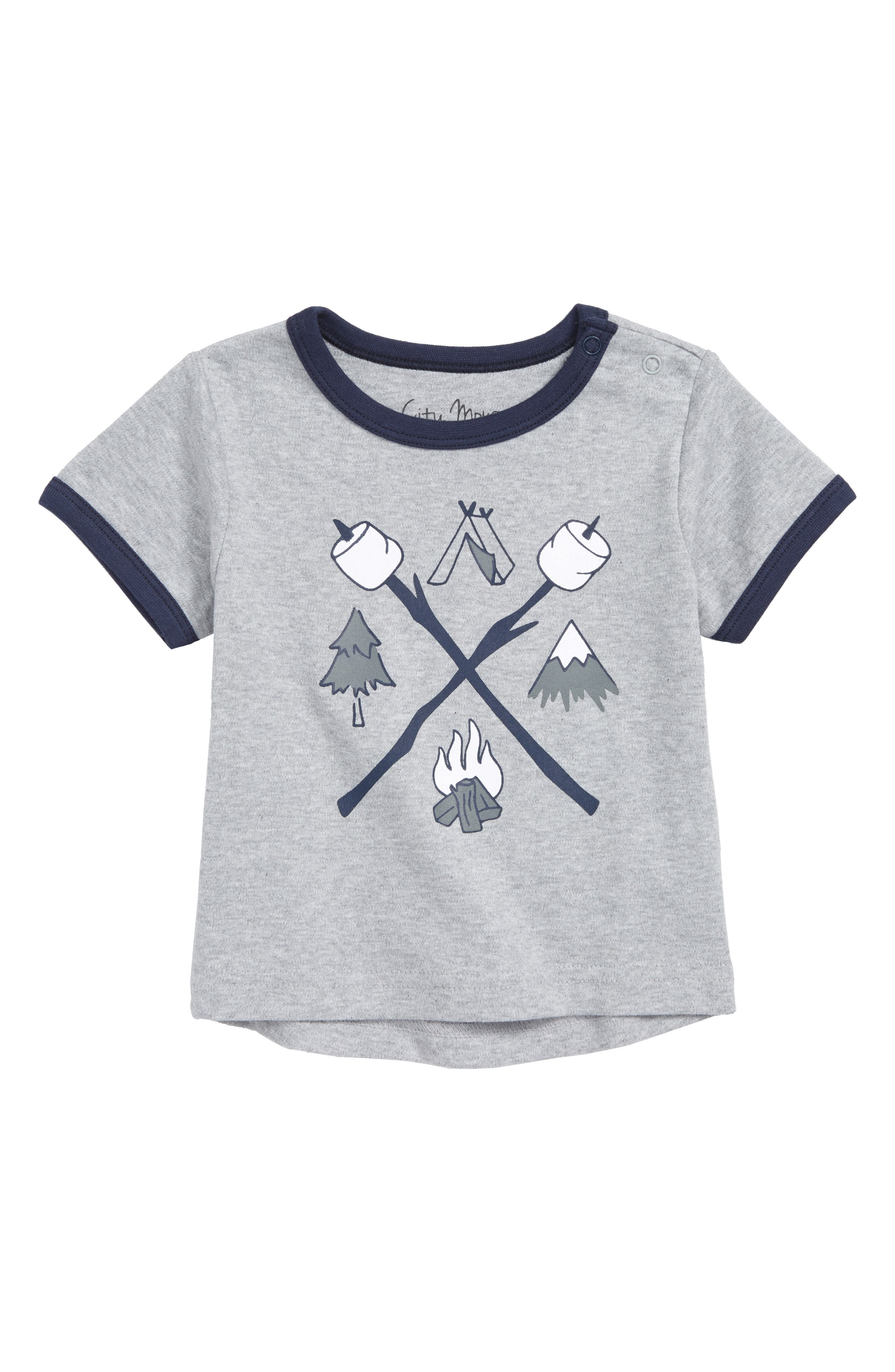Camping Organic Cotton T-Shirt,                             Main thumbnail 1, color,