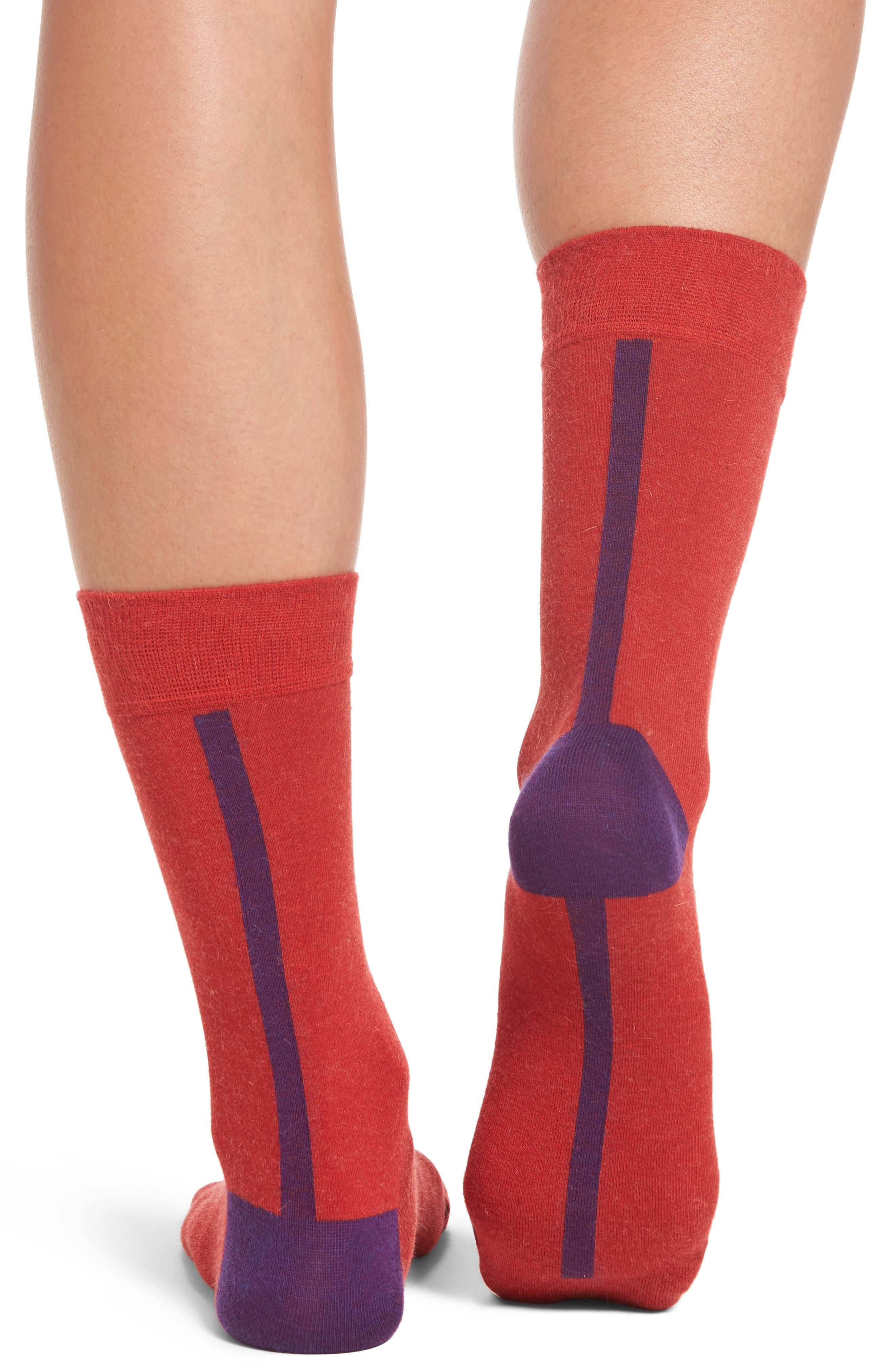 Gigi Crew Socks,                             Alternate thumbnail 2, color,