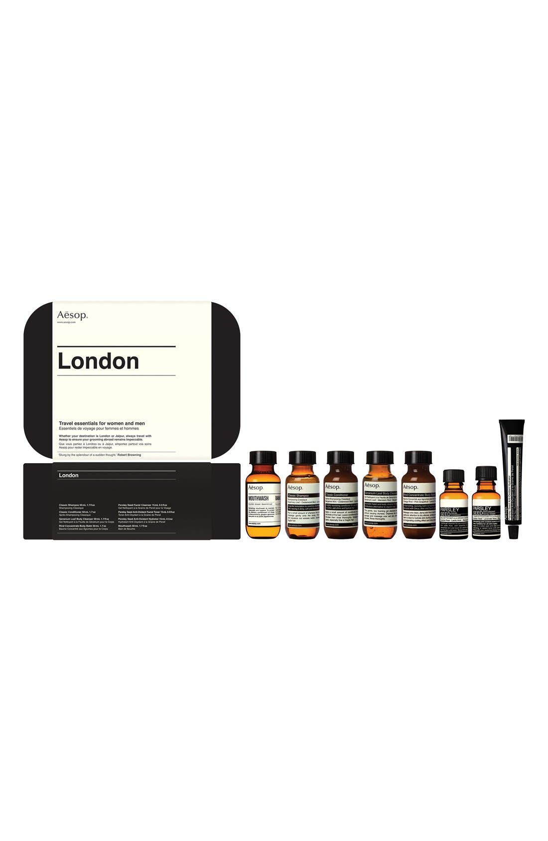 London Hair & Body Care Travel Kit,                             Main thumbnail 1, color,                             960