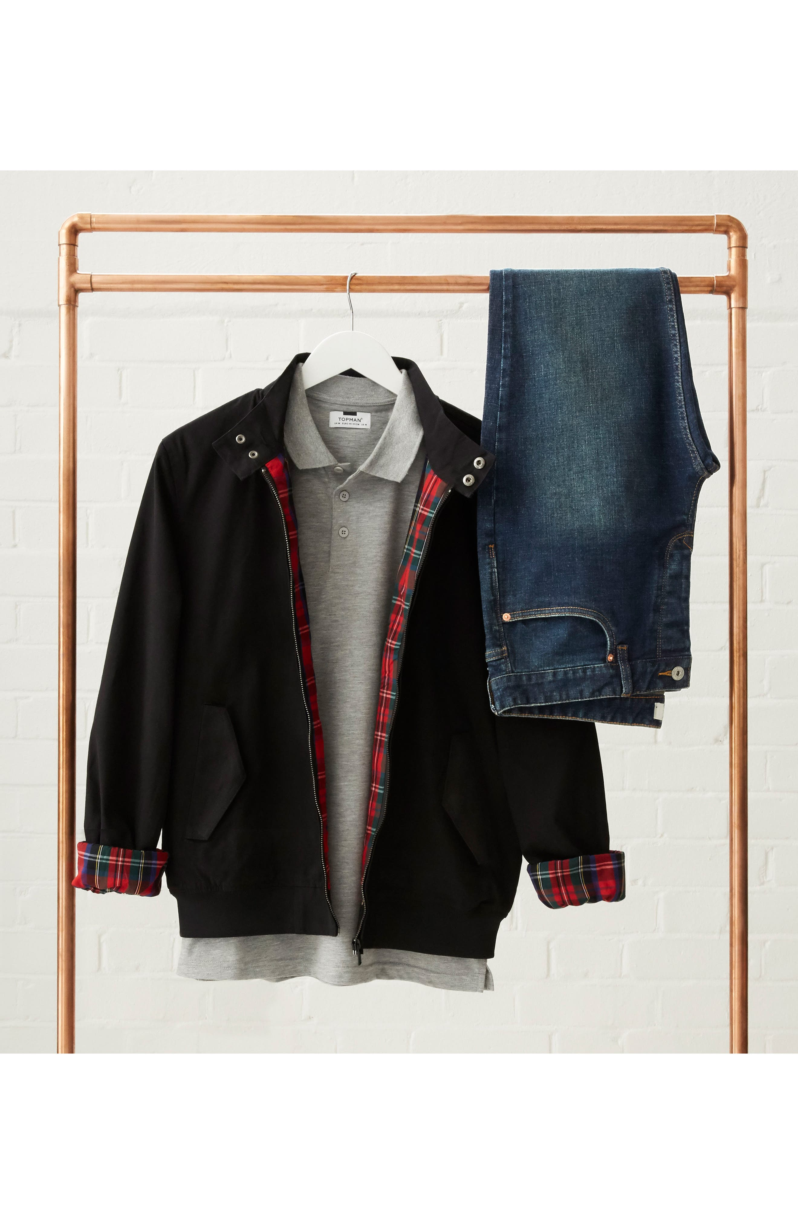Classic Harrington Jacket,                             Alternate thumbnail 5, color,                             001
