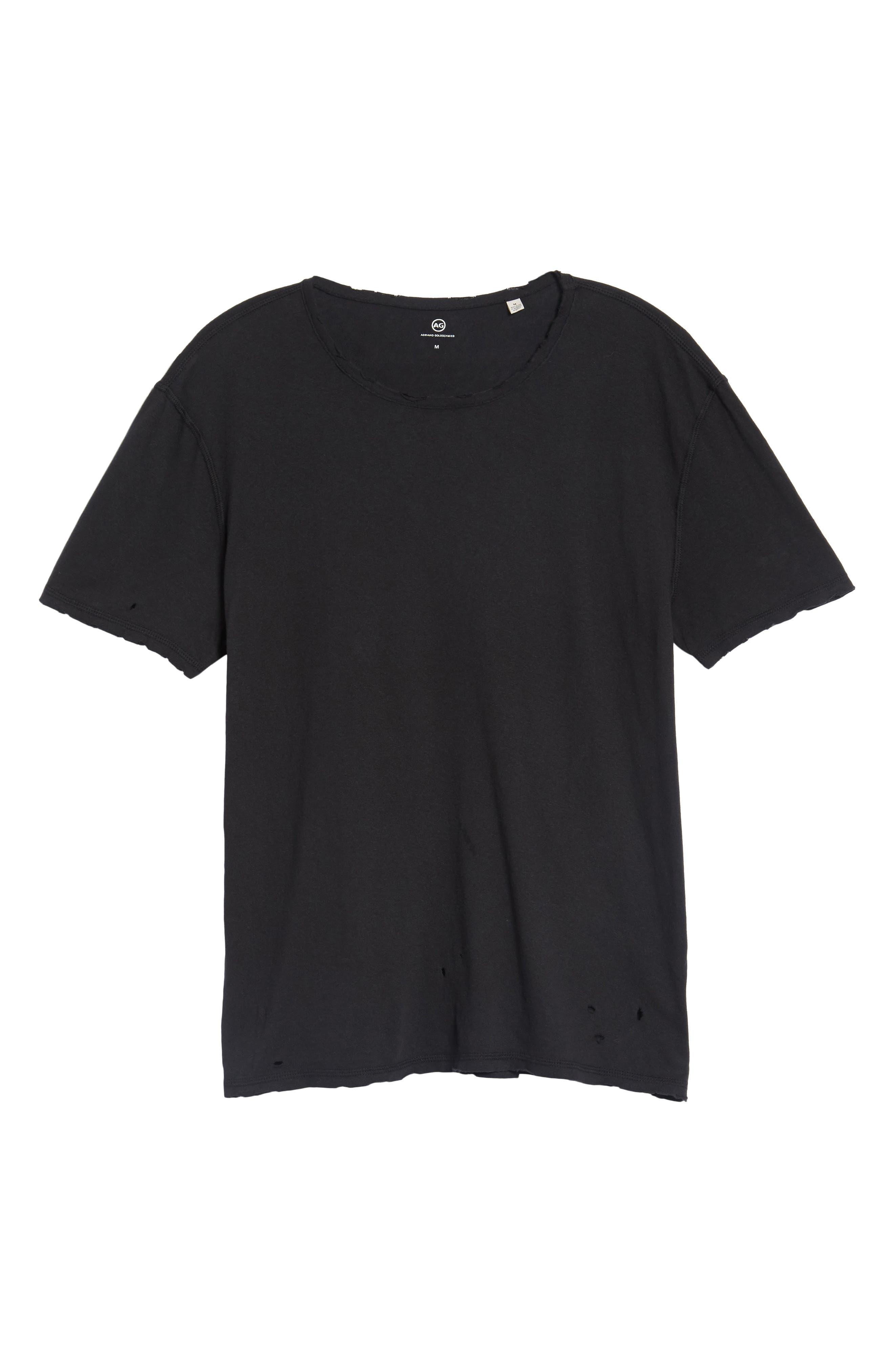 Ramsey Shredded Hem T-Shirt,                             Alternate thumbnail 6, color,                             015