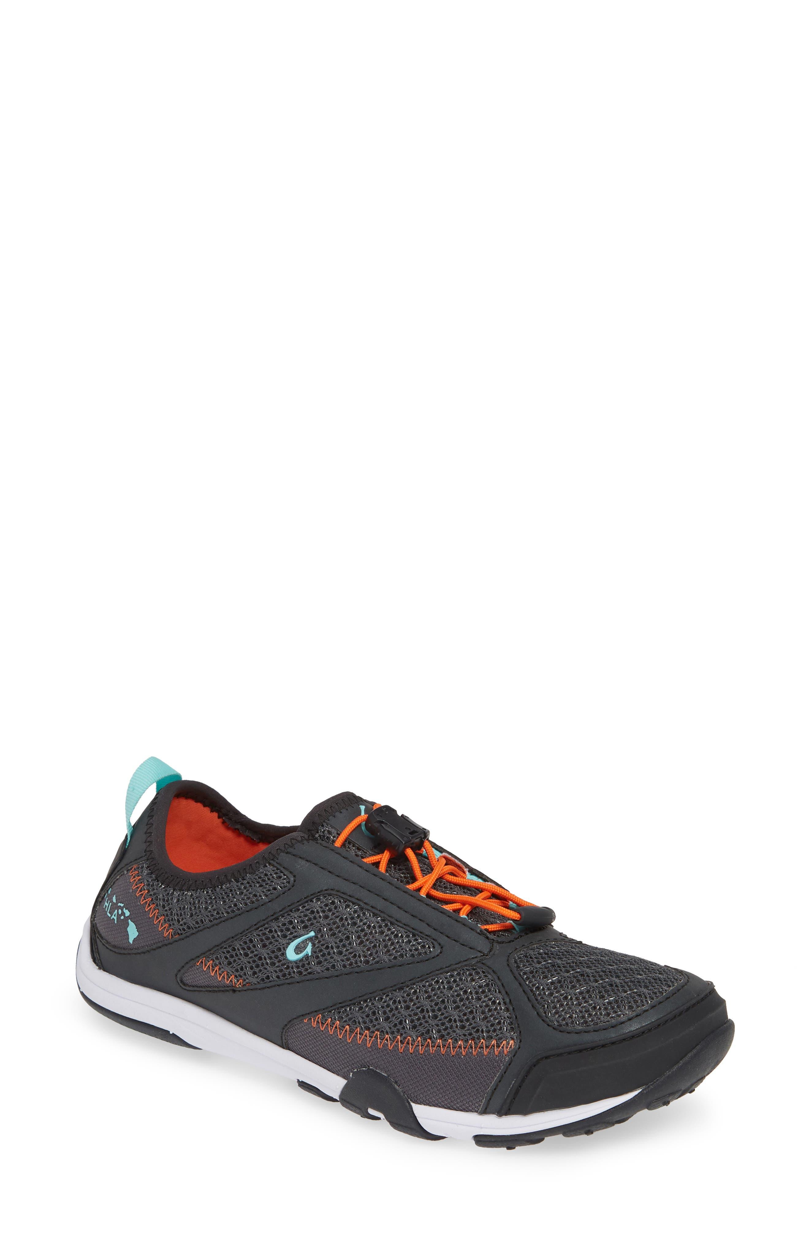 'Eleu' Water-Resistant Sneaker,                             Main thumbnail 1, color,                             DARK SHADOW/ LAVA ROCK FABRIC