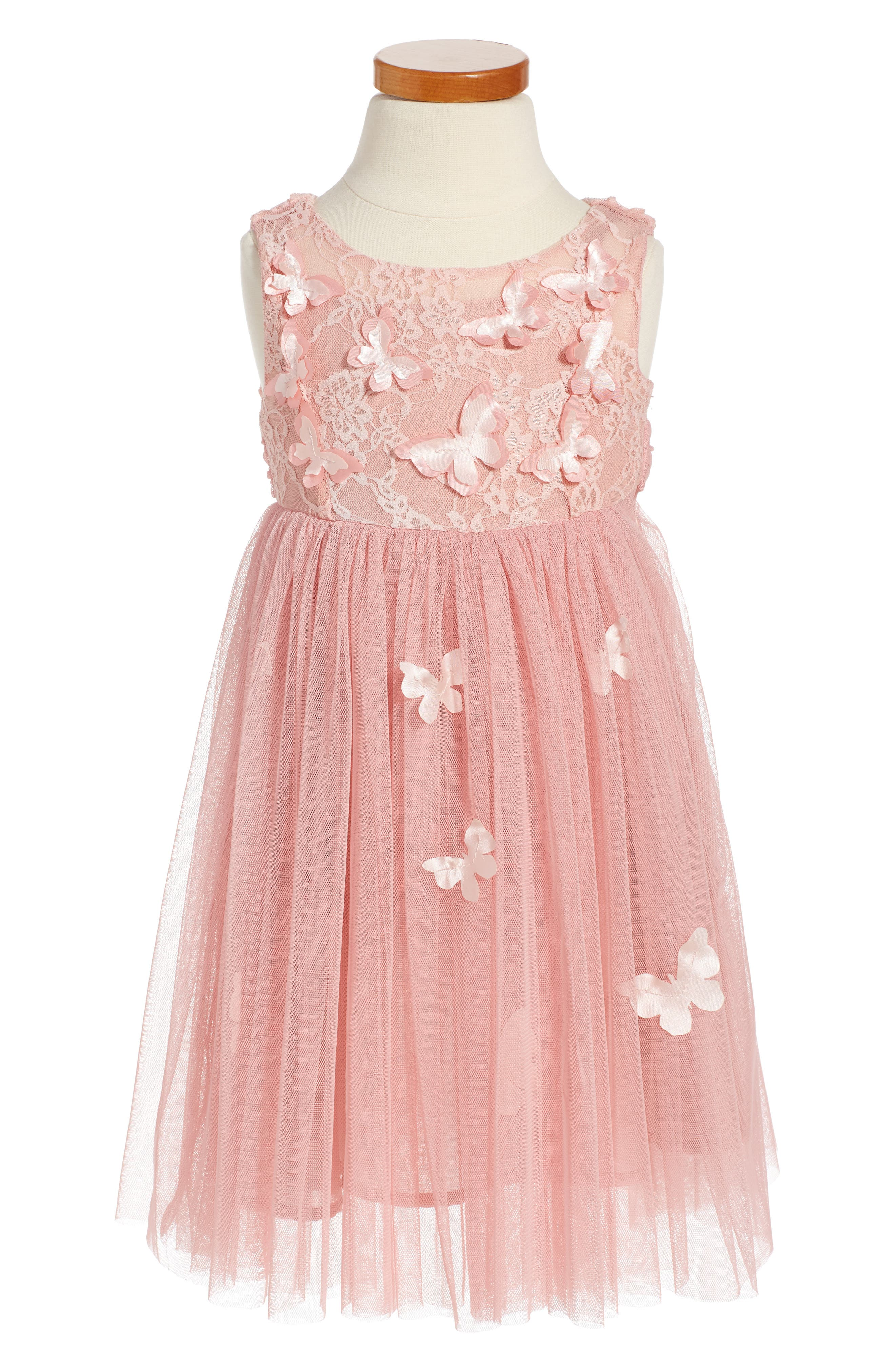 Butterfly Sleeveless Dress,                             Main thumbnail 1, color,                             653