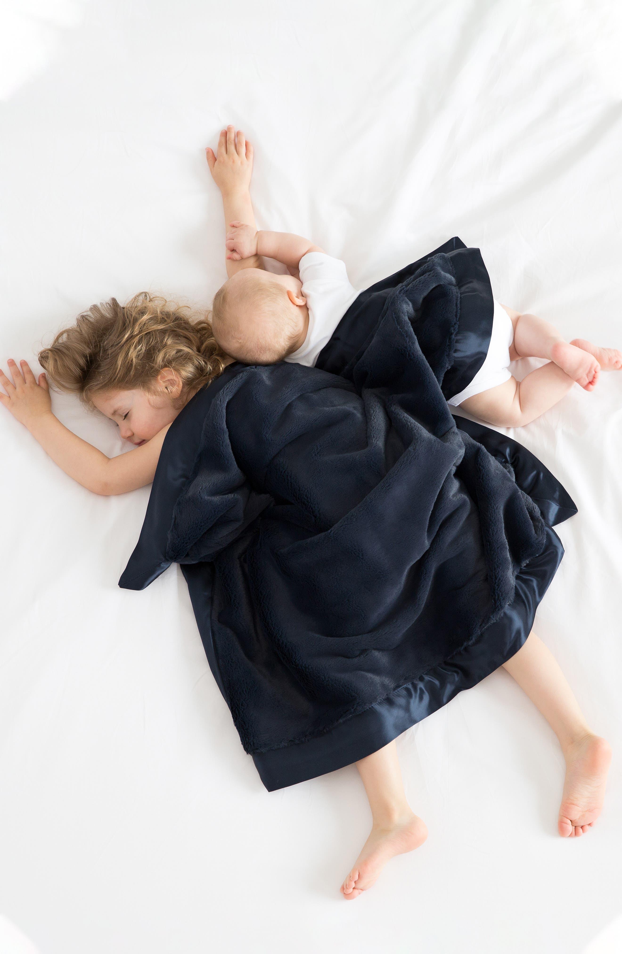 Luxe Baby Blanket,                             Alternate thumbnail 3, color,                             DENIM
