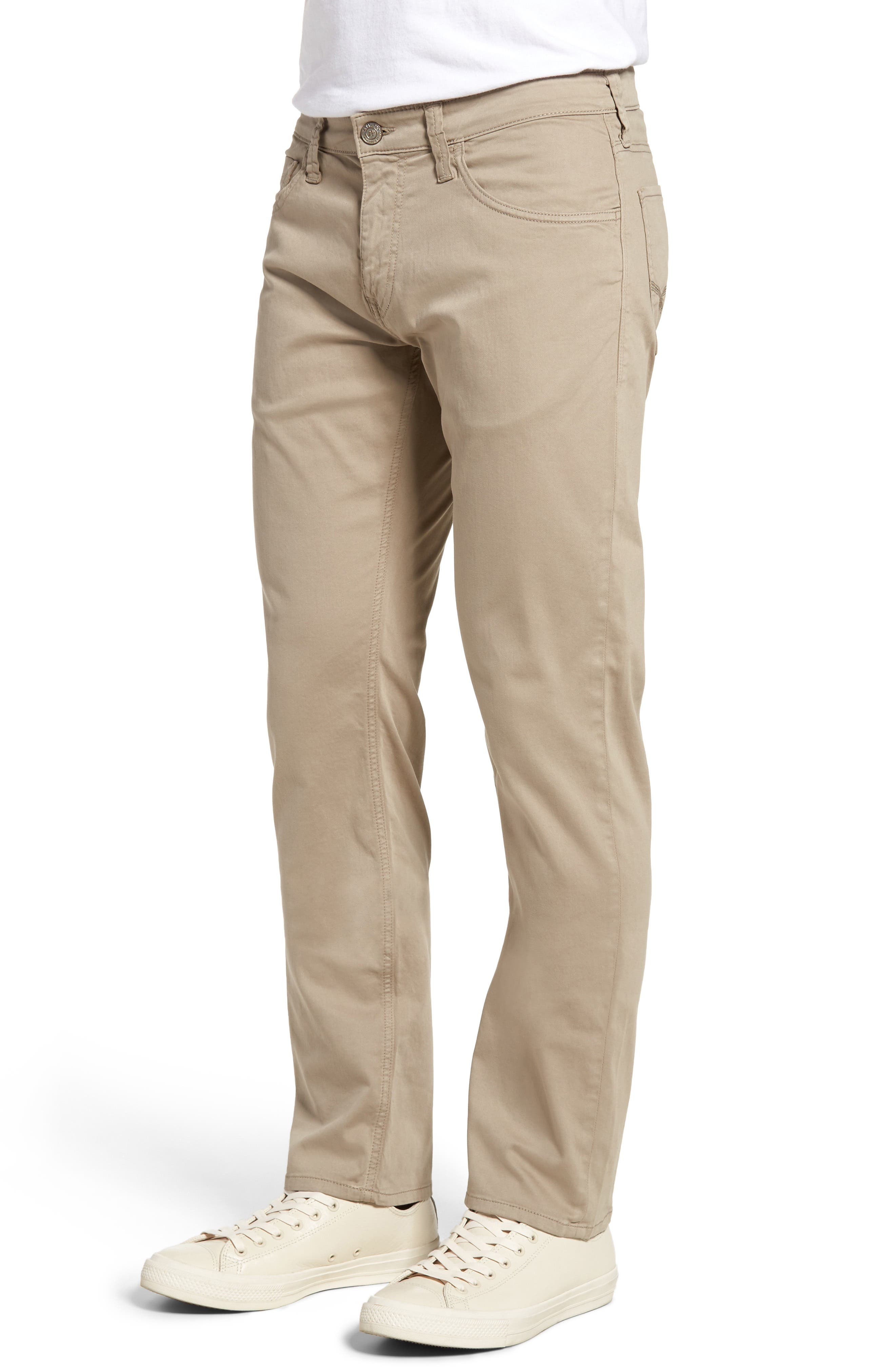 Zach Straight Leg Twill Pants,                             Alternate thumbnail 3, color,                             BEIGE TWILL