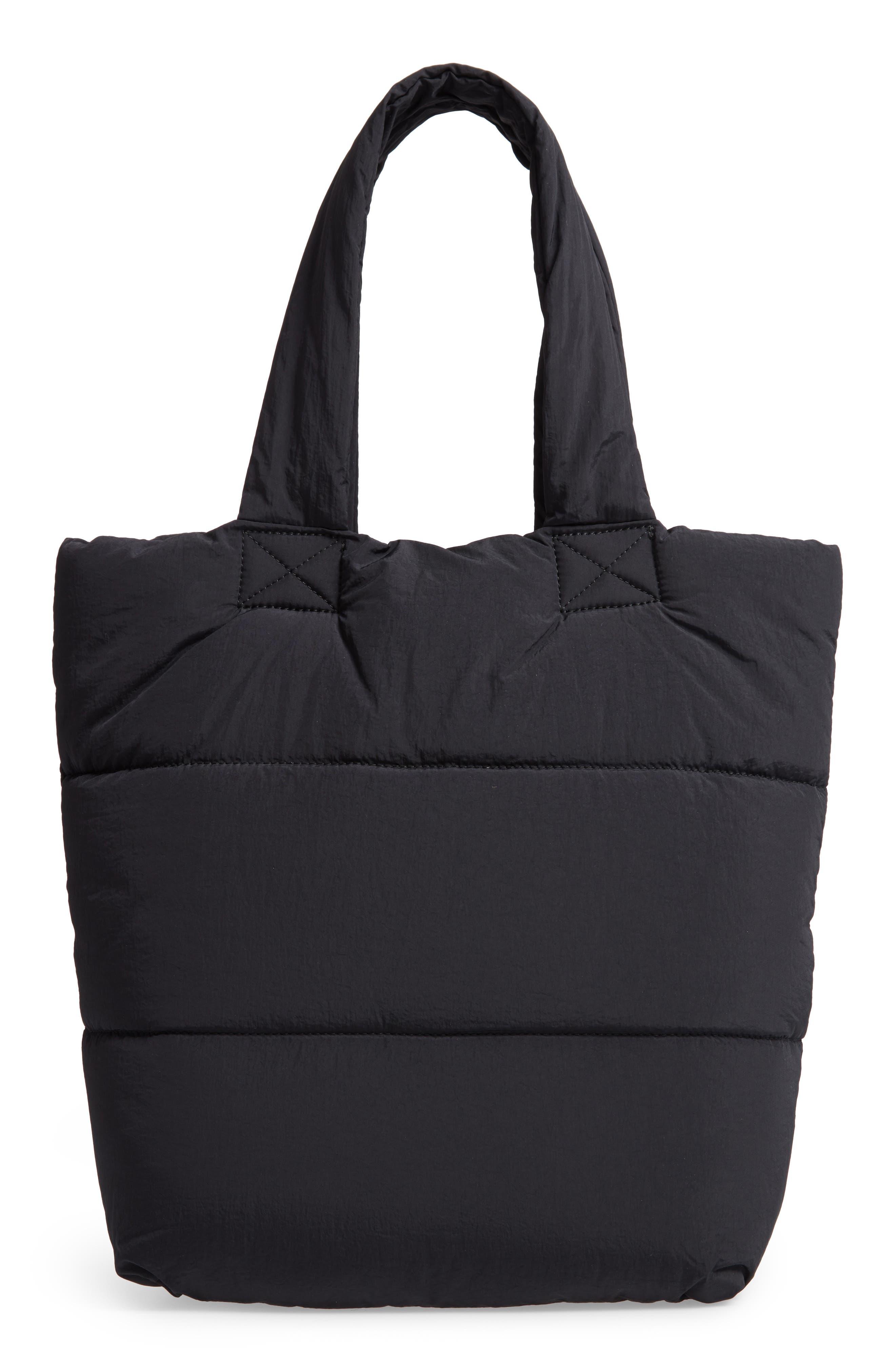 Peri Nylon Tote,                         Main,                         color, BLACK