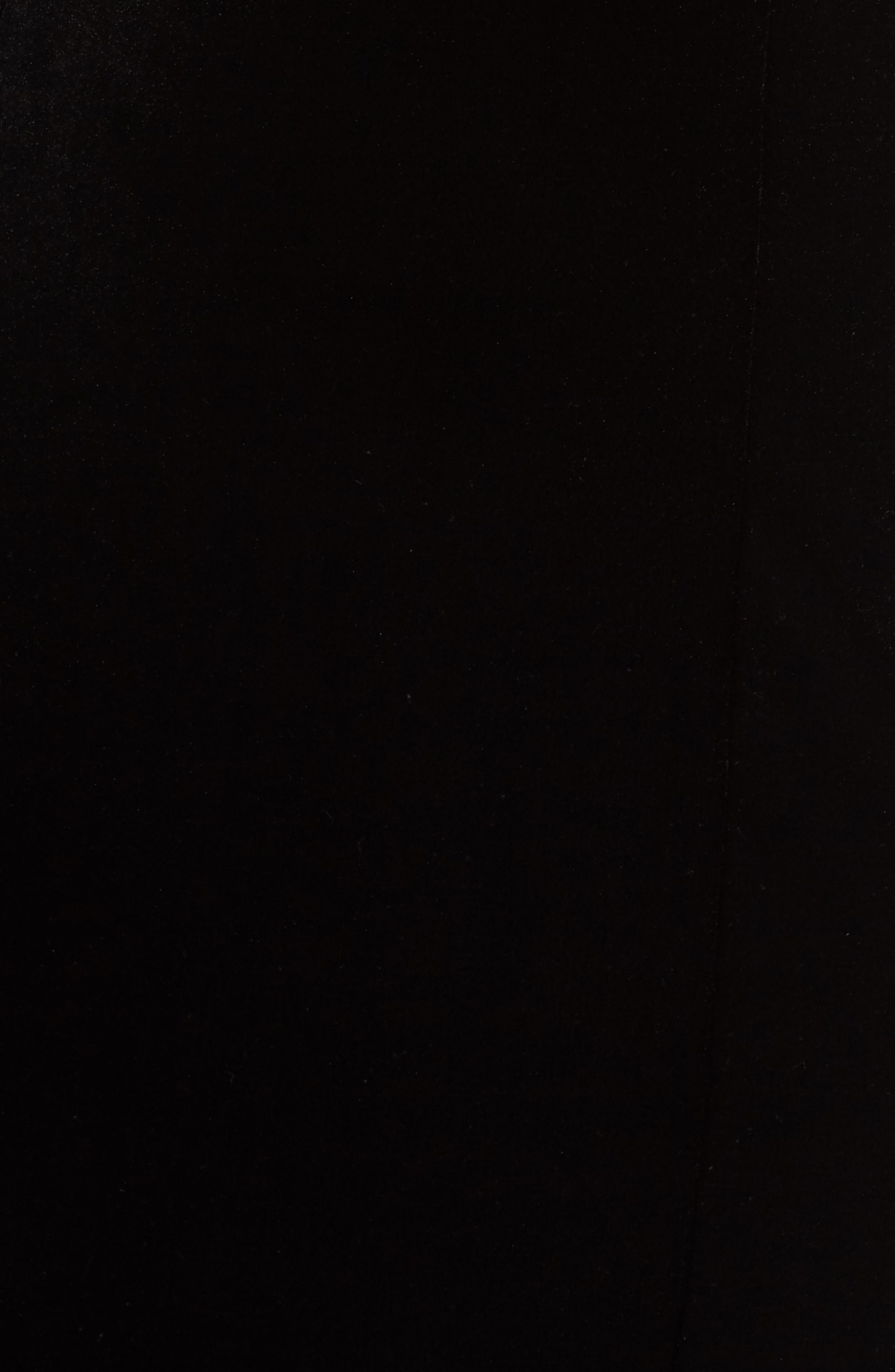 Off the Shoulder Velvet Gown,                             Alternate thumbnail 6, color,                             BLACK