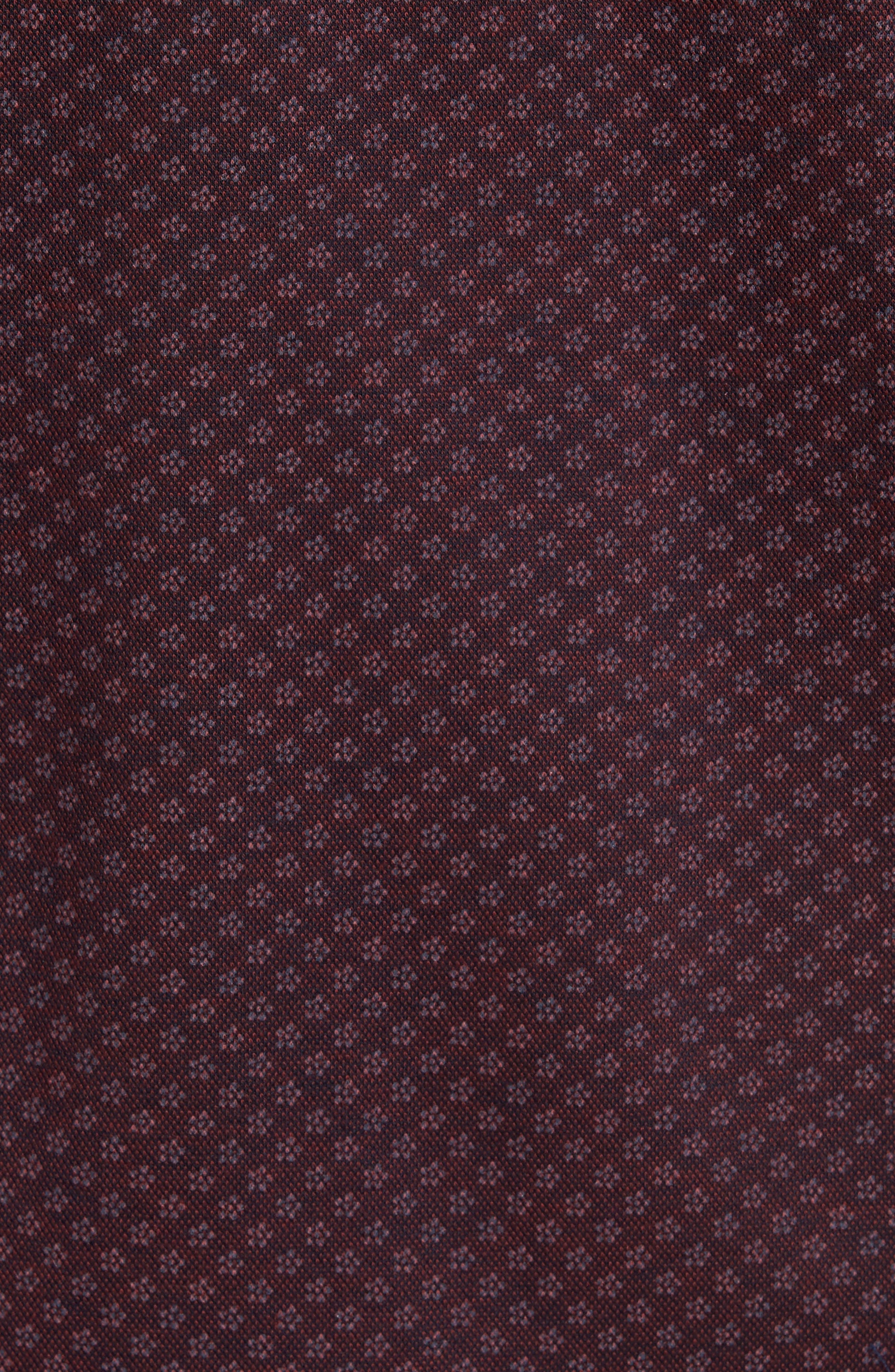 Paul&Shark Floral Print Knit Sports Shirt,                             Alternate thumbnail 5, color,                             930