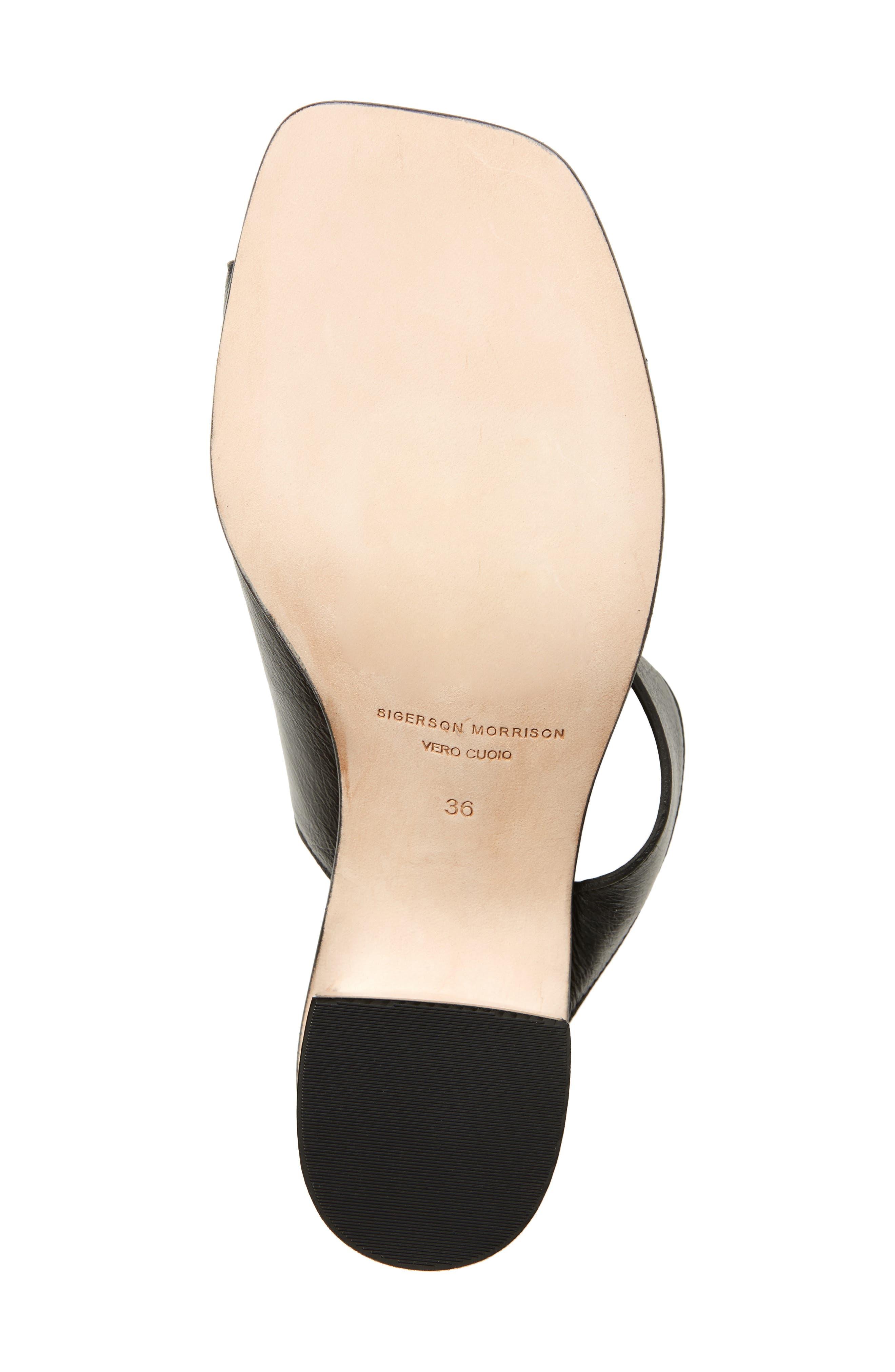 Block Heel Toe Loop Sandal,                             Alternate thumbnail 6, color,                             001
