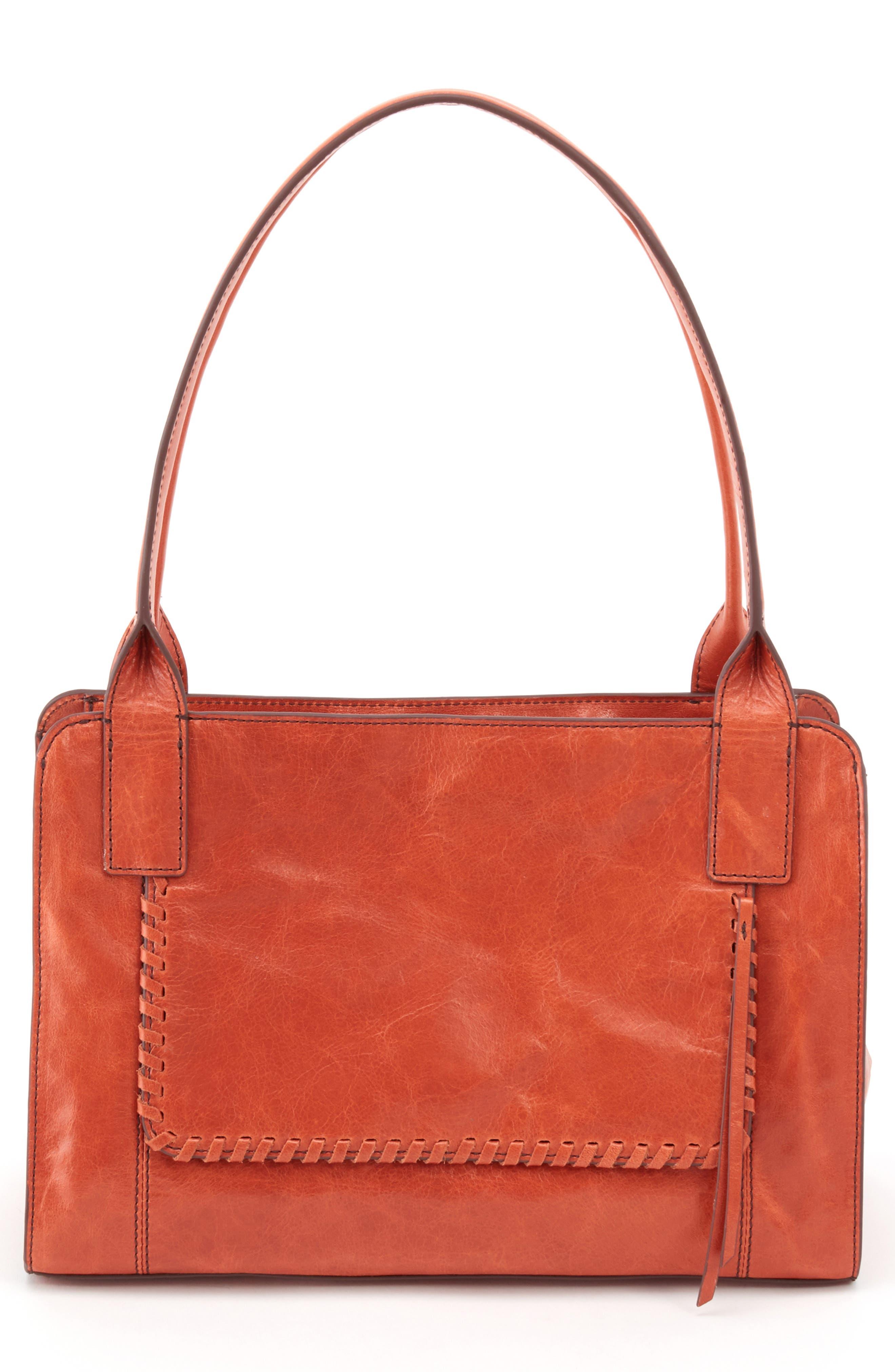 Splendor Leather Satchel,                         Main,                         color, CLAY