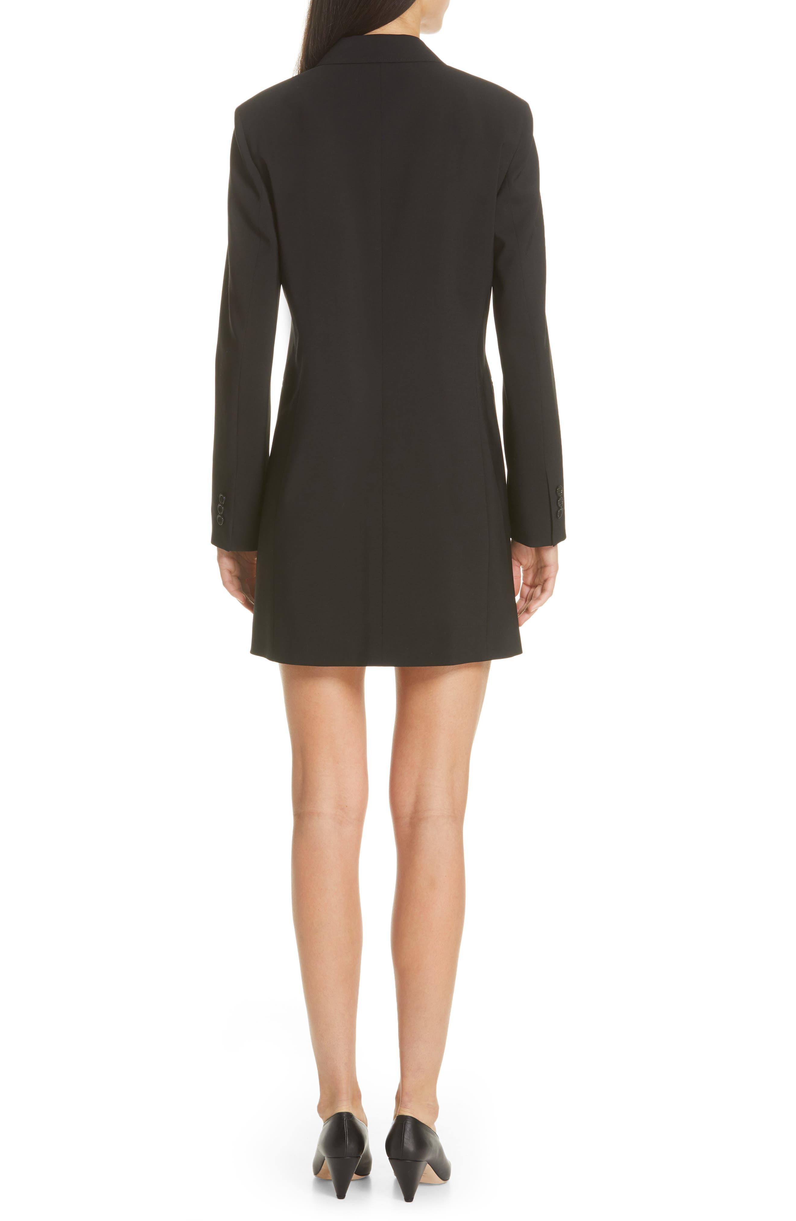 Akasa Blazer Dress,                             Alternate thumbnail 2, color,                             BLACK