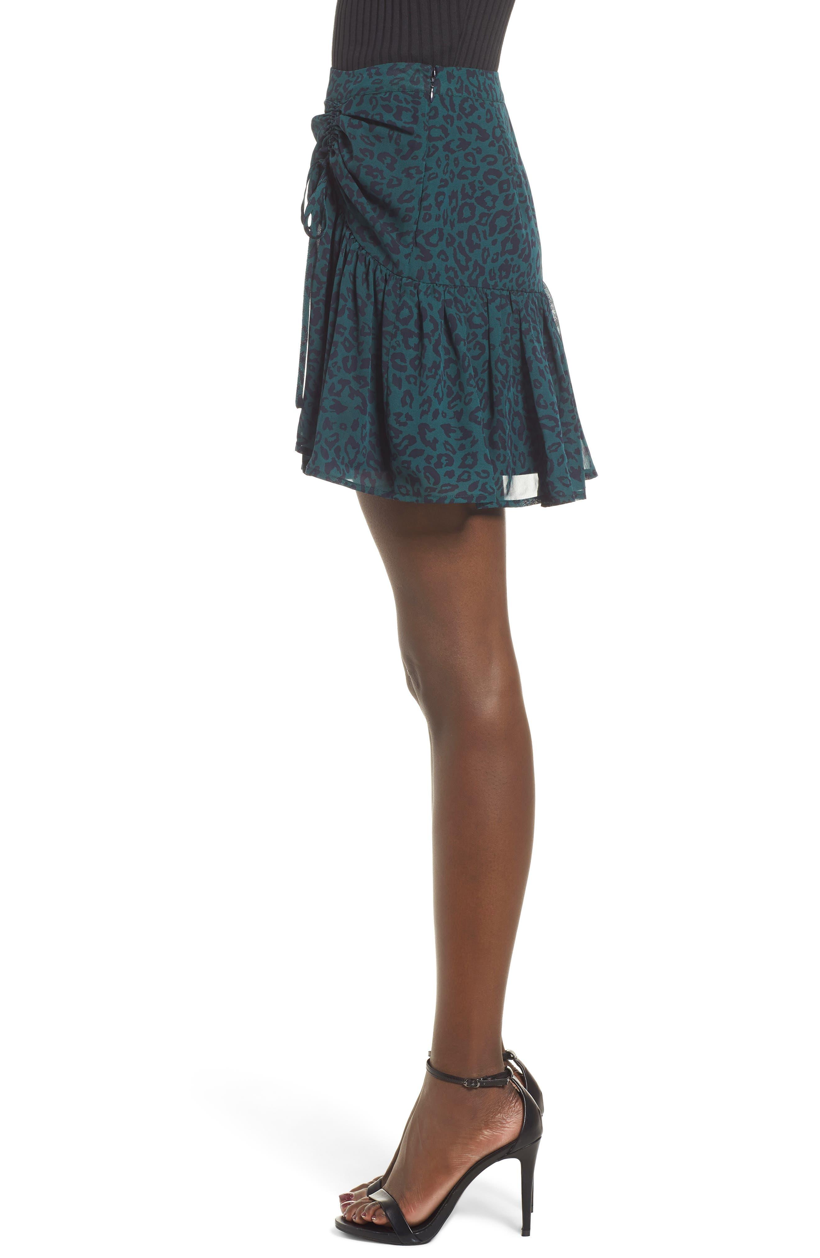 Ruched Ruffle Miniskirt,                             Alternate thumbnail 3, color,                             300