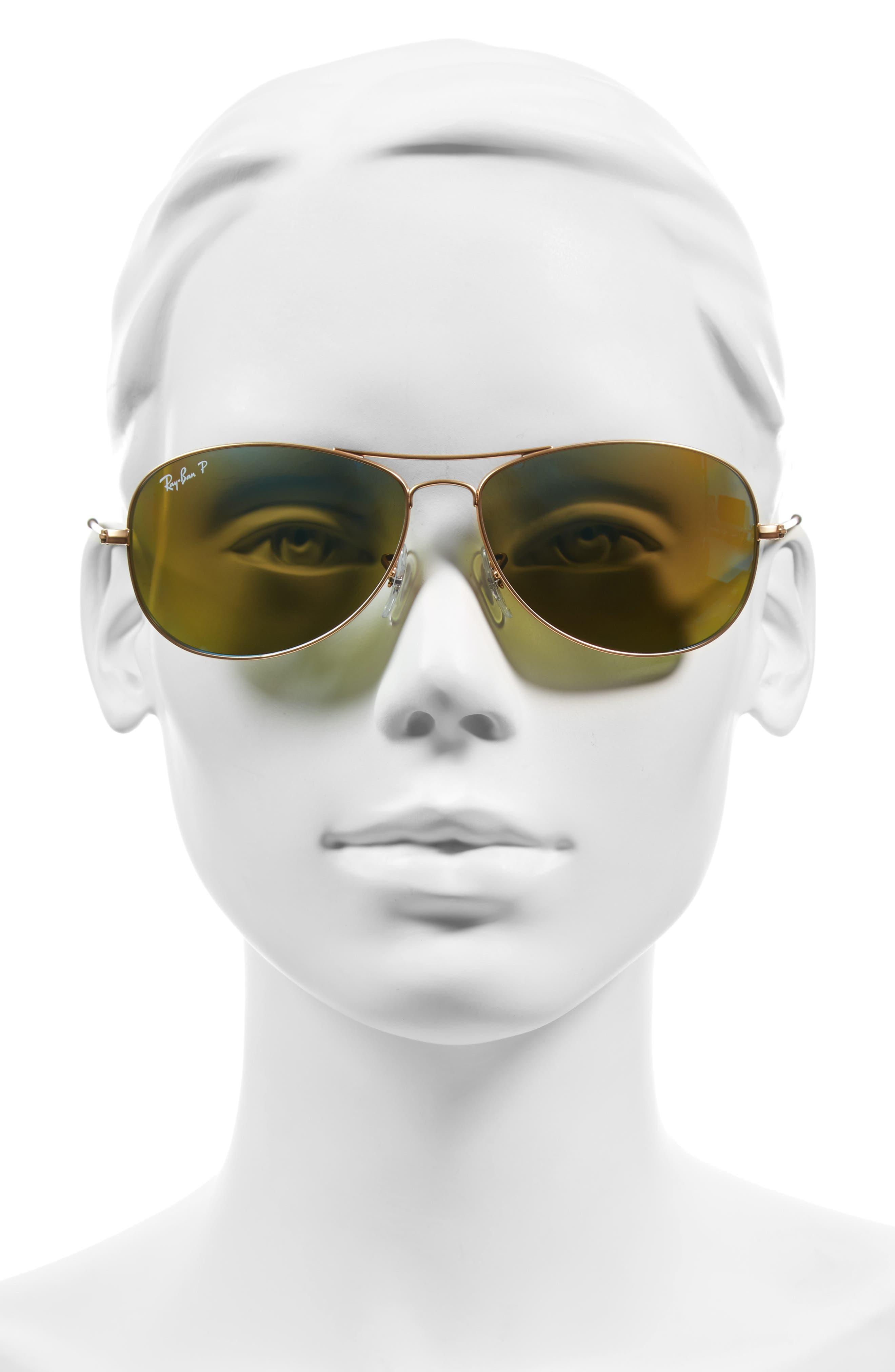 Tech 59mm Polarized Sunglasses,                             Alternate thumbnail 7, color,