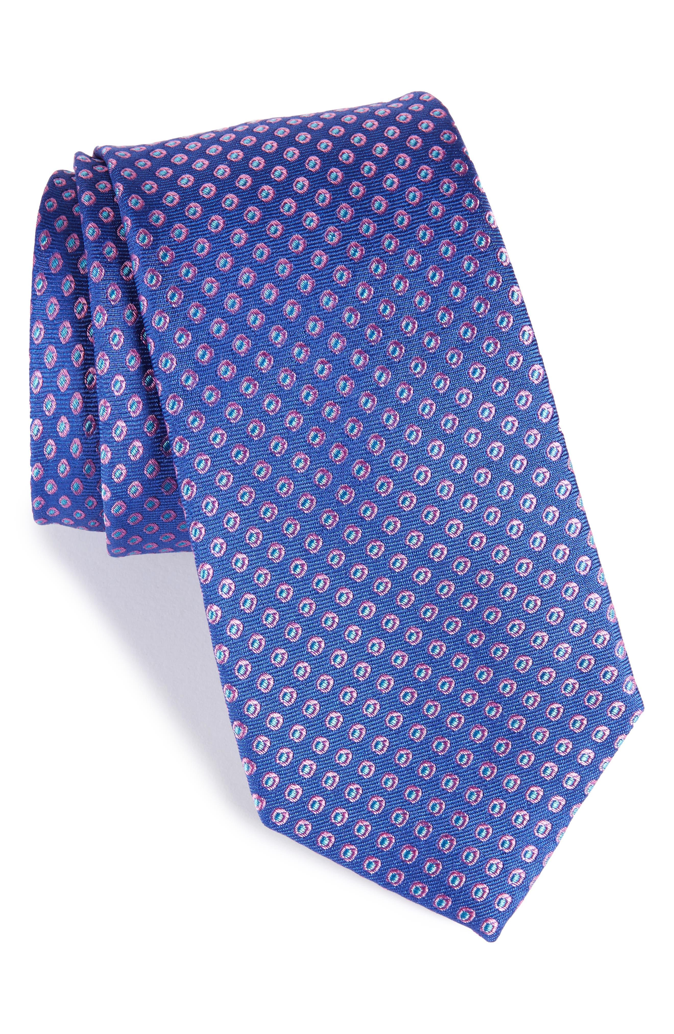 Oxford Dot Silk Tie,                             Main thumbnail 4, color,