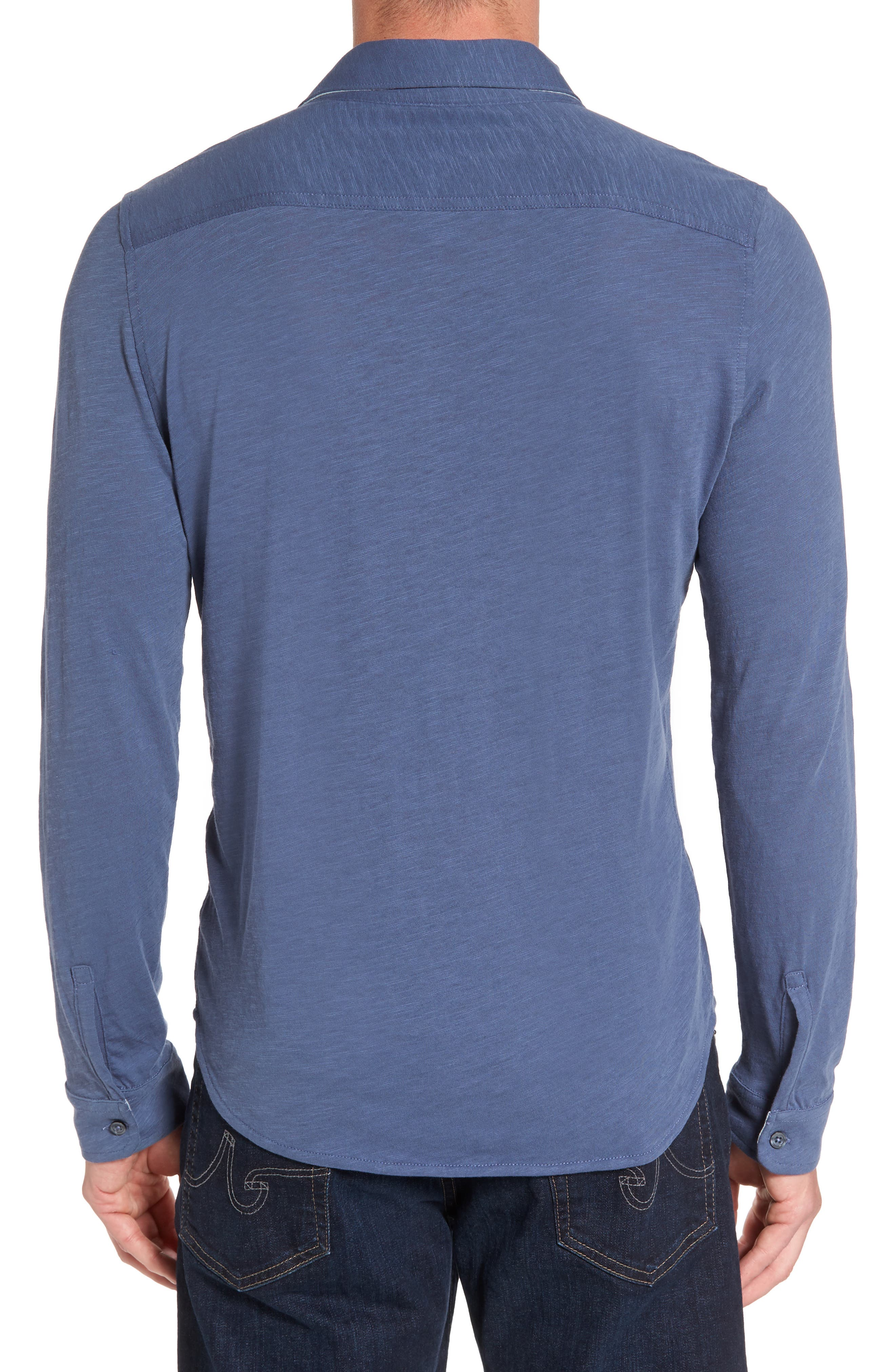 Camara Trim Fit Knit Sport Shirt,                             Alternate thumbnail 6, color,
