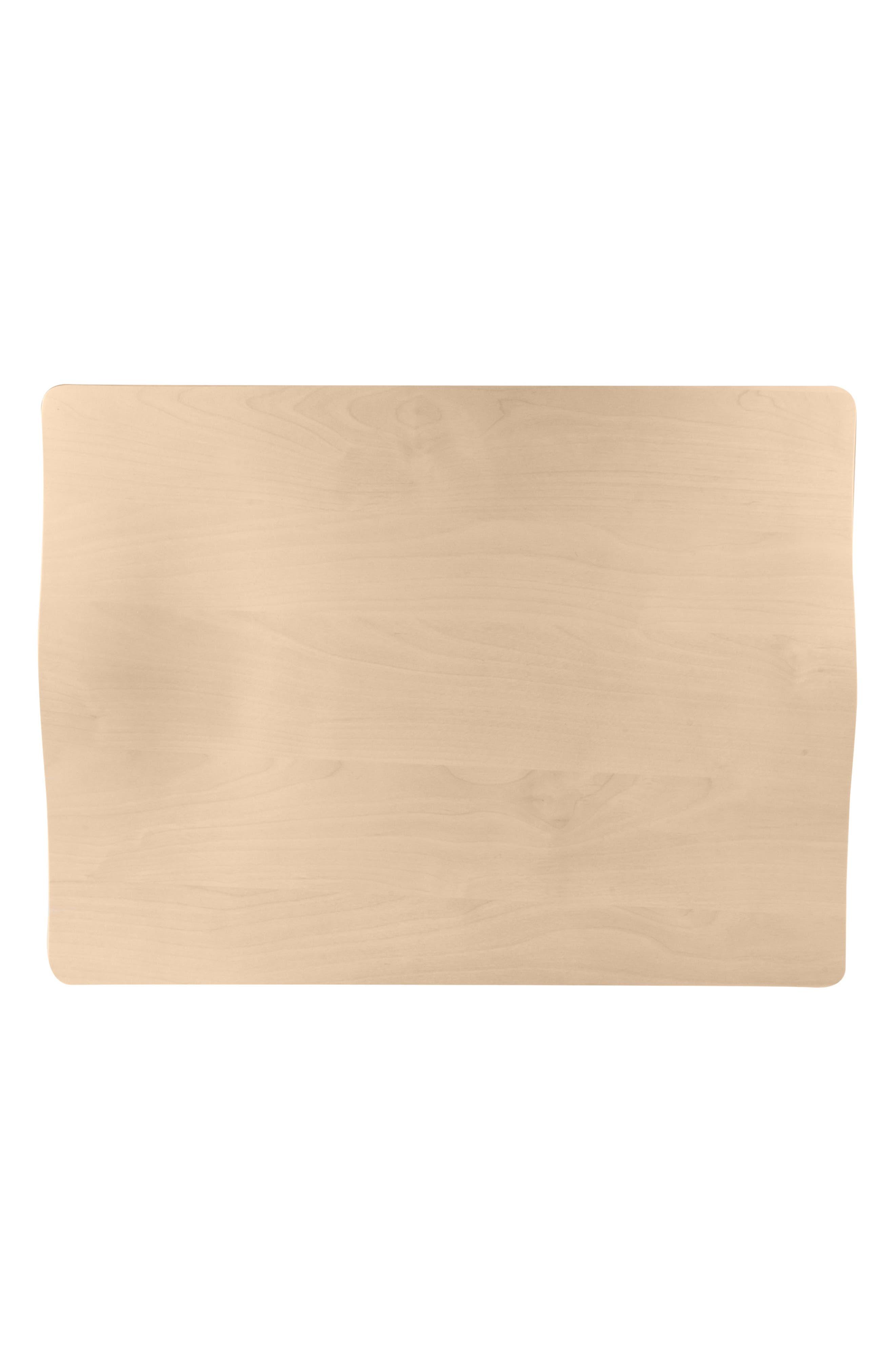 Square Birch & Melamine Serving Tray,                             Alternate thumbnail 4, color,