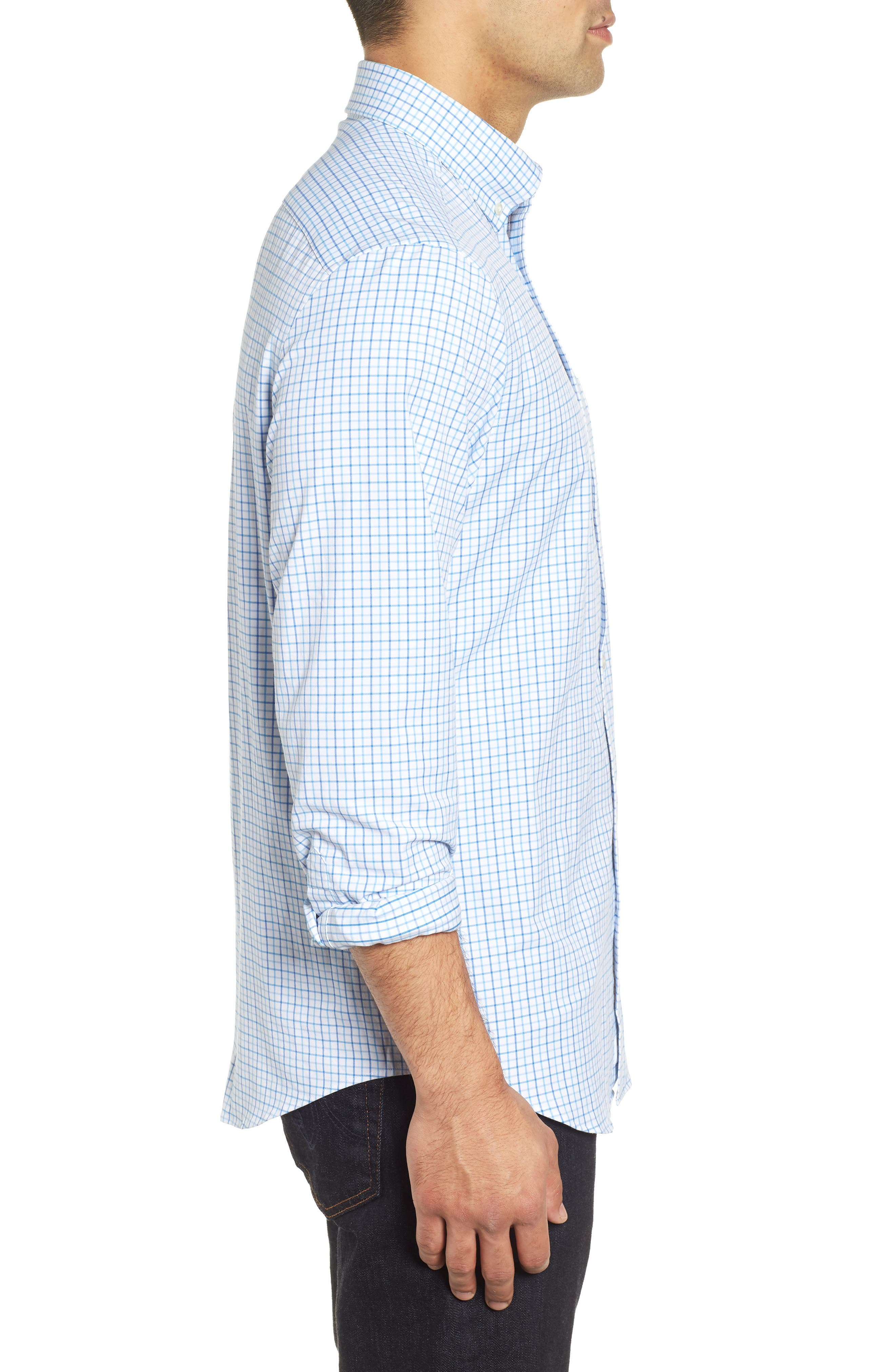 Pepperbush Regular Fit Plaid Sport Shirt,                             Alternate thumbnail 4, color,                             427