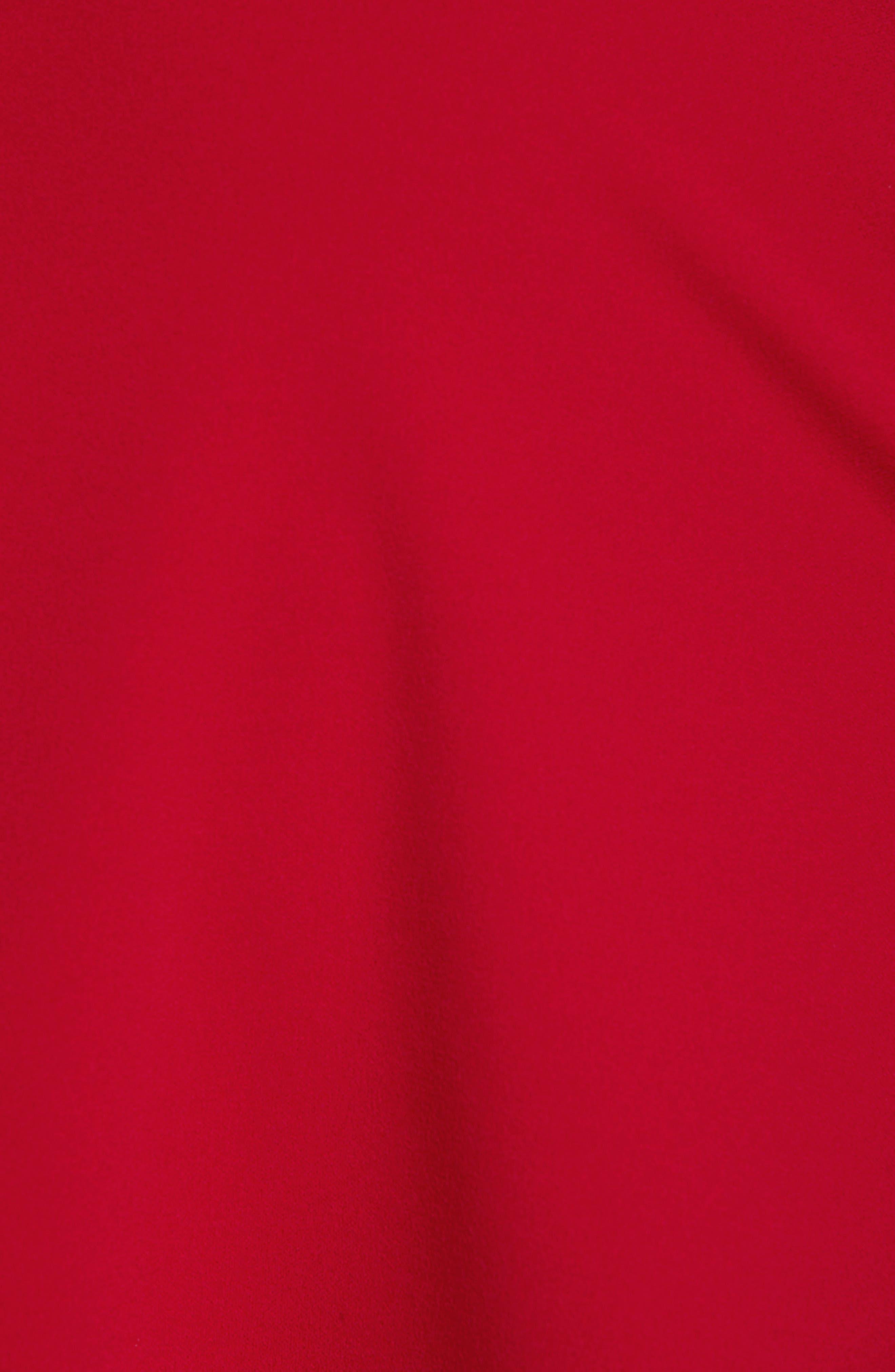 LOVE, NICKIE LEW,                             V-Neck Skater Dress,                             Alternate thumbnail 7, color,                             RED