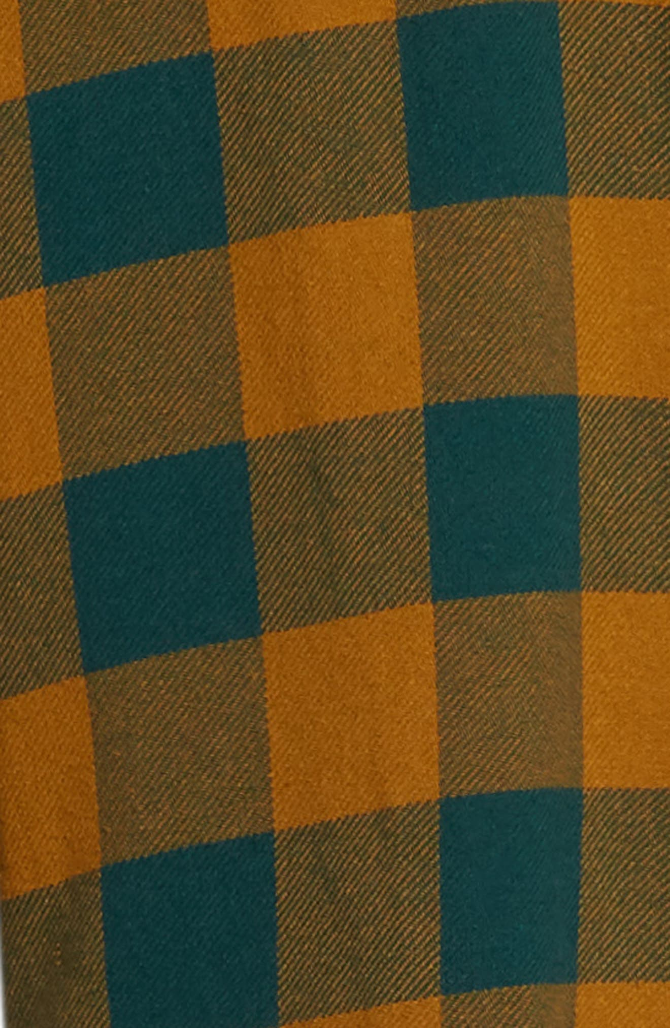 Vedder Buffalo Plaid Flannel Shirt,                             Alternate thumbnail 6, color,                             DARK TEAL MULTI