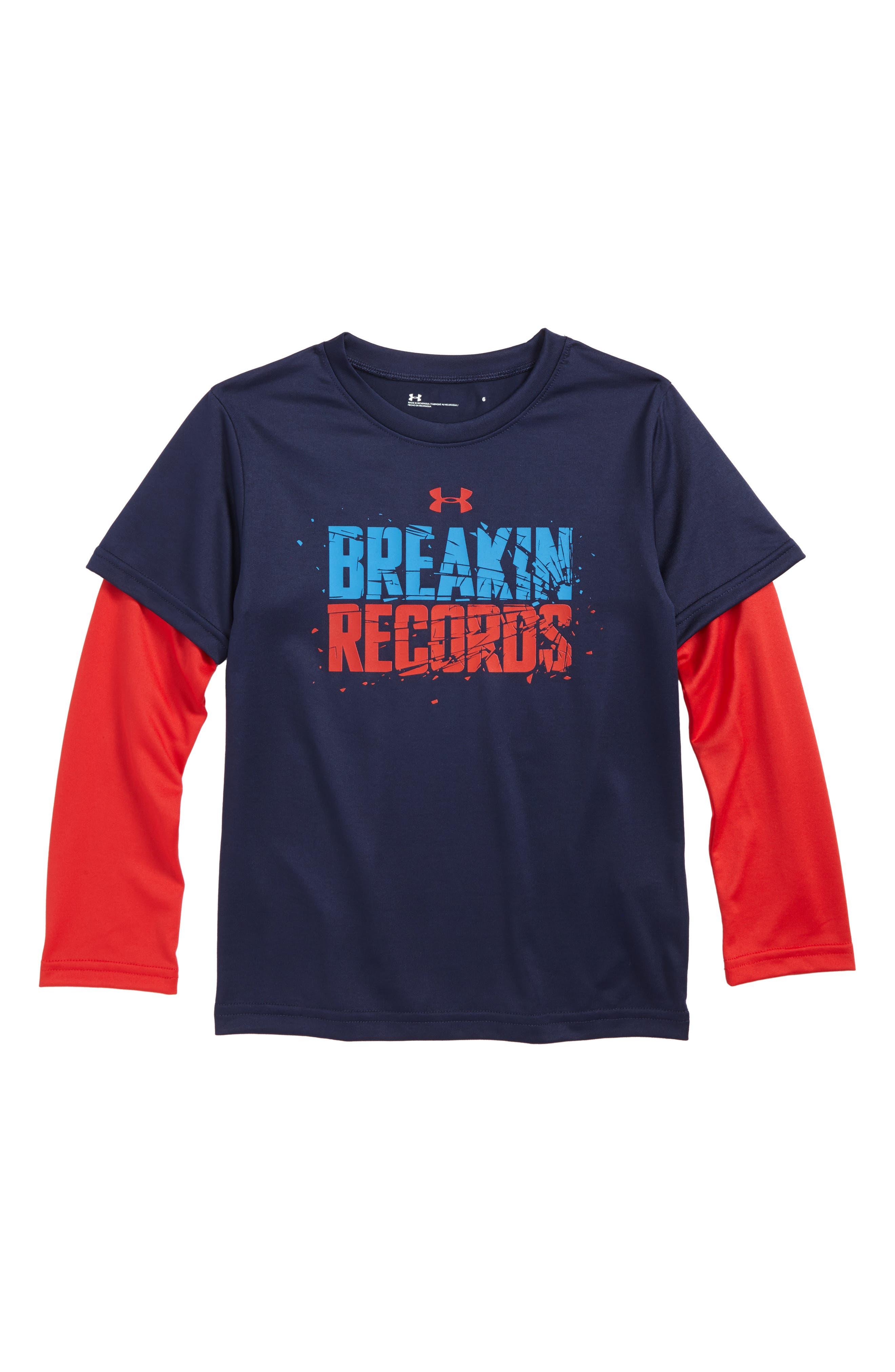 Breakin' Records HeatGear<sup>®</sup> Tee,                         Main,                         color, 420