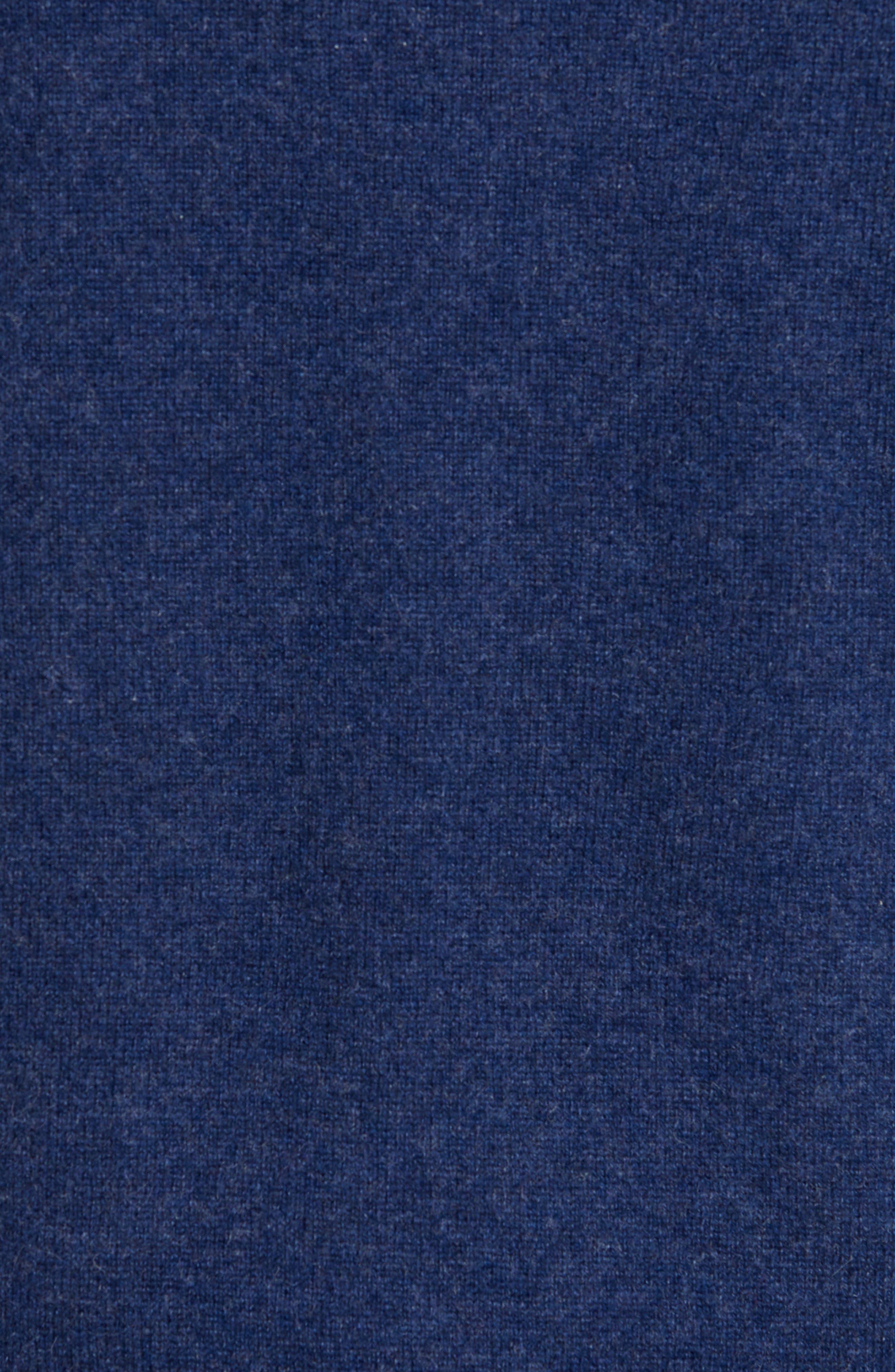 Cashmere V-Neck Sweater Vest,                             Alternate thumbnail 5, color,                             BLUE ESTATE HEATHER