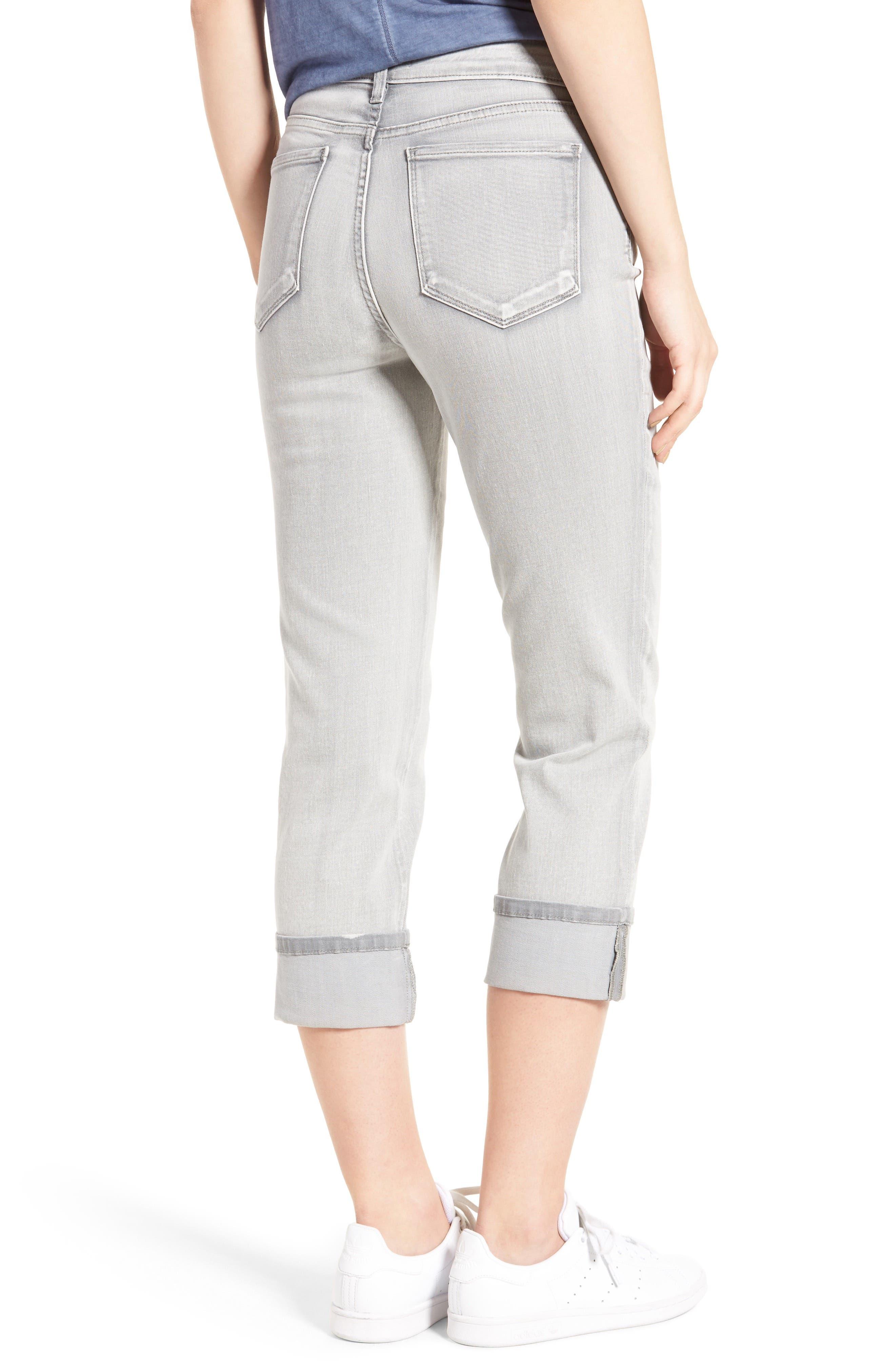 'Dayla' Colored Wide Cuff Capri Jeans,                             Alternate thumbnail 16, color,