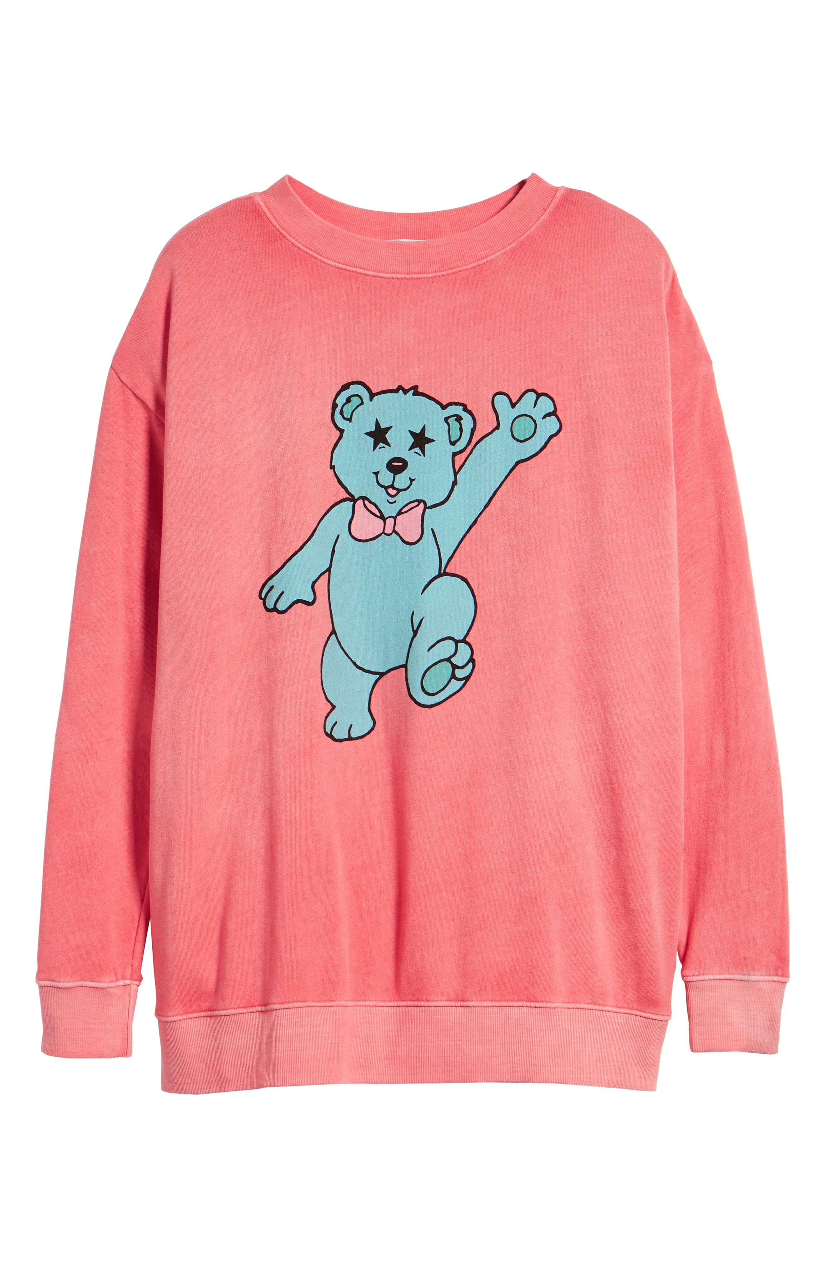 Groovy Teddy Road Trip Pullover Sweatshirt,                             Alternate thumbnail 7, color,                             640