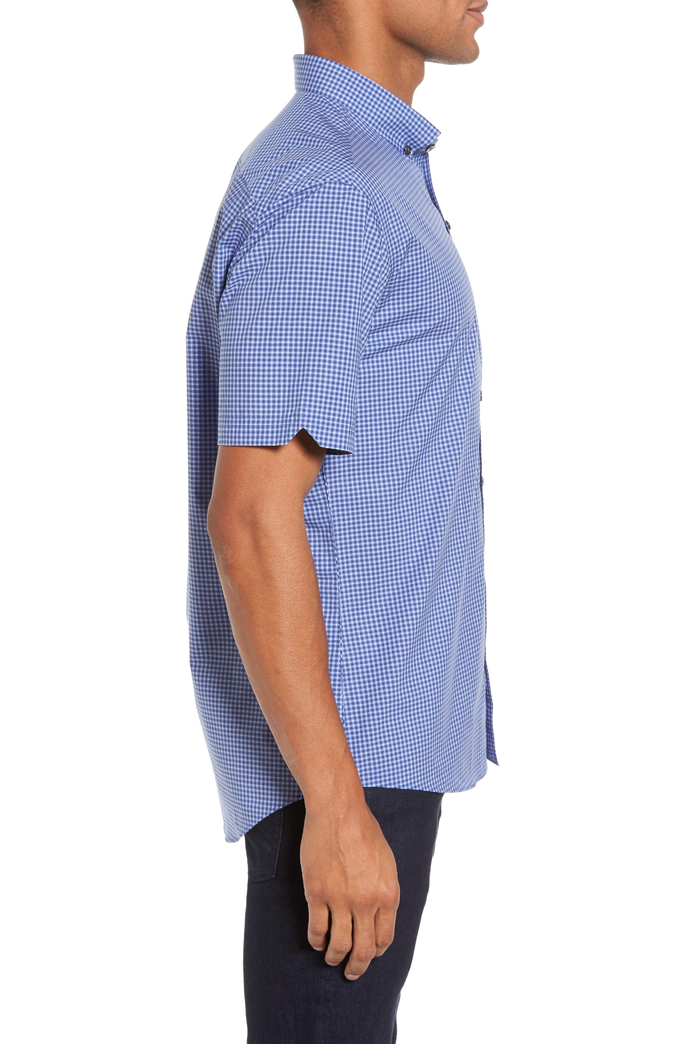 Ahmed Slim Fit Plaid Sport Shirt,                             Alternate thumbnail 6, color,