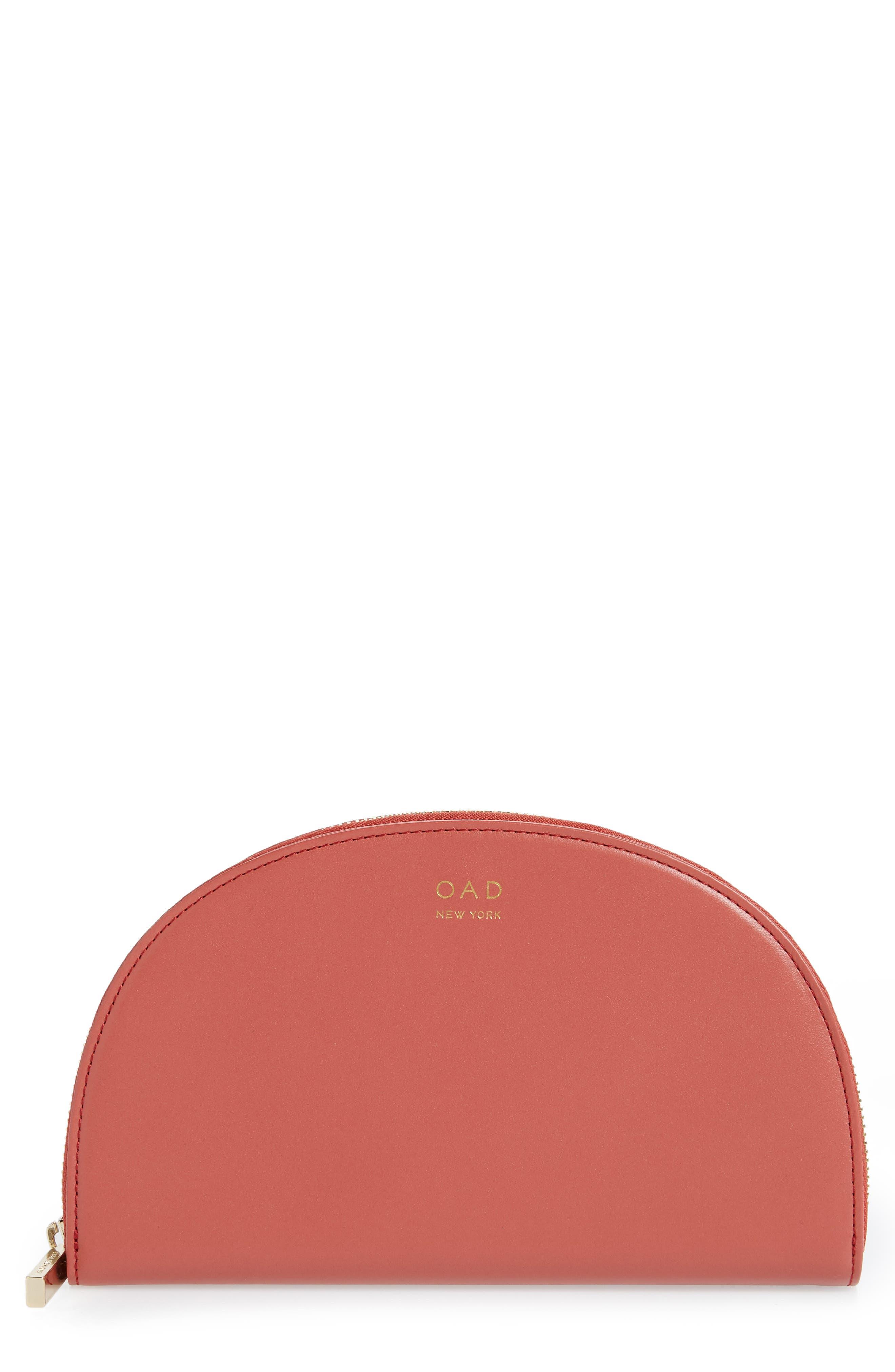 Dia Continental Mirror Wallet,                             Main thumbnail 1, color,                             ROSE WOOD