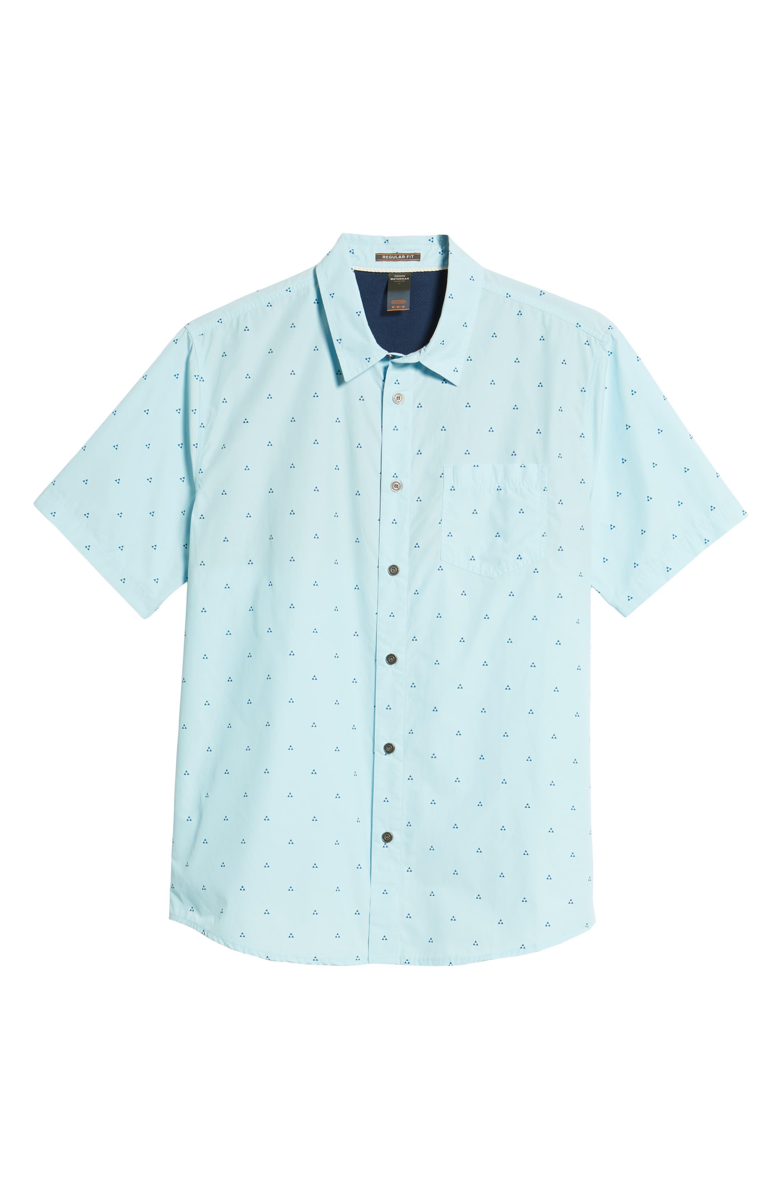 Trailblazed Regular Fit Performance Sport Shirt,                             Alternate thumbnail 6, color,                             CRYSTAL BLUE
