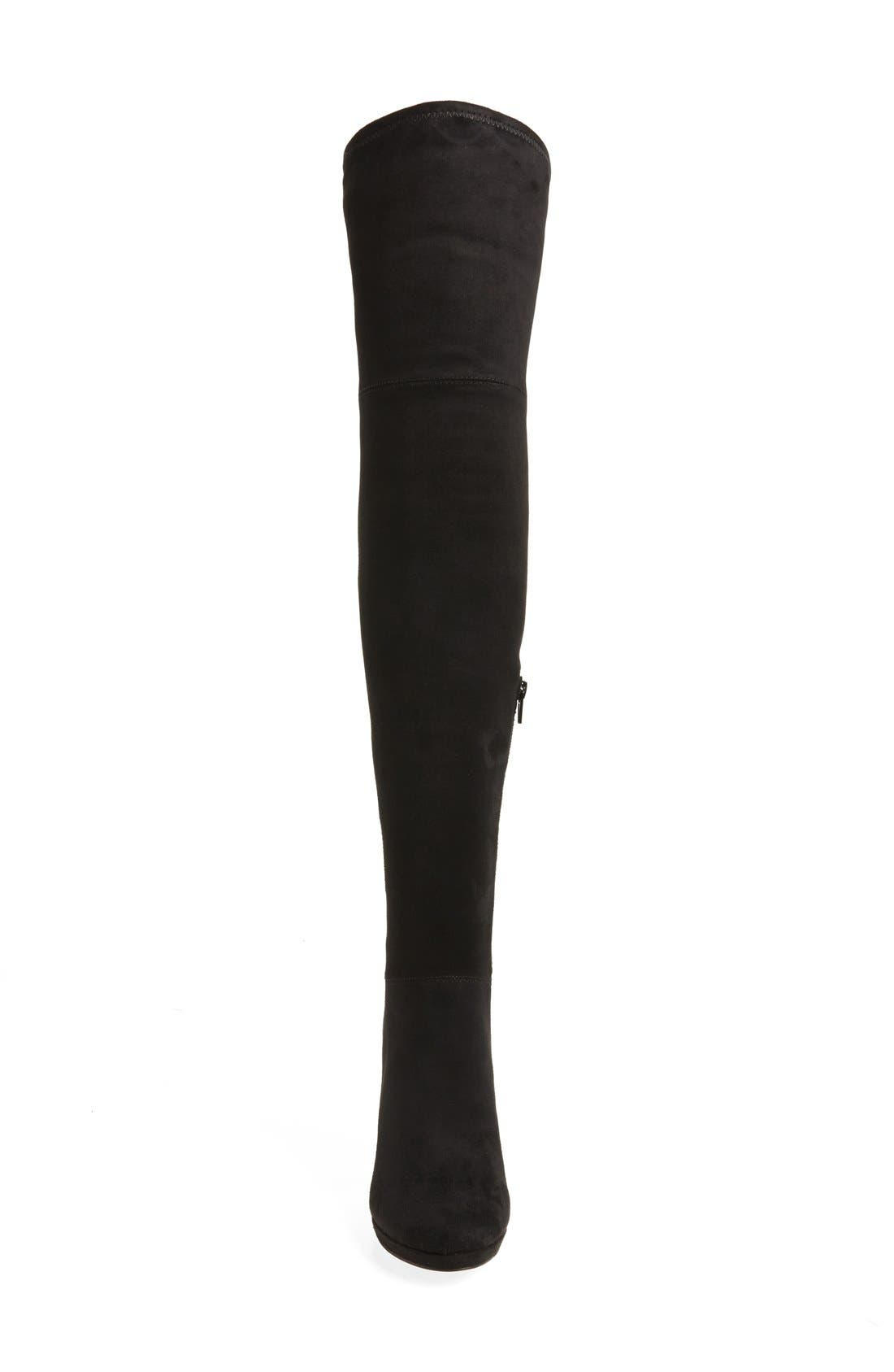 'Polomia' Platform Over the Knee Boot,                             Alternate thumbnail 3, color,                             001