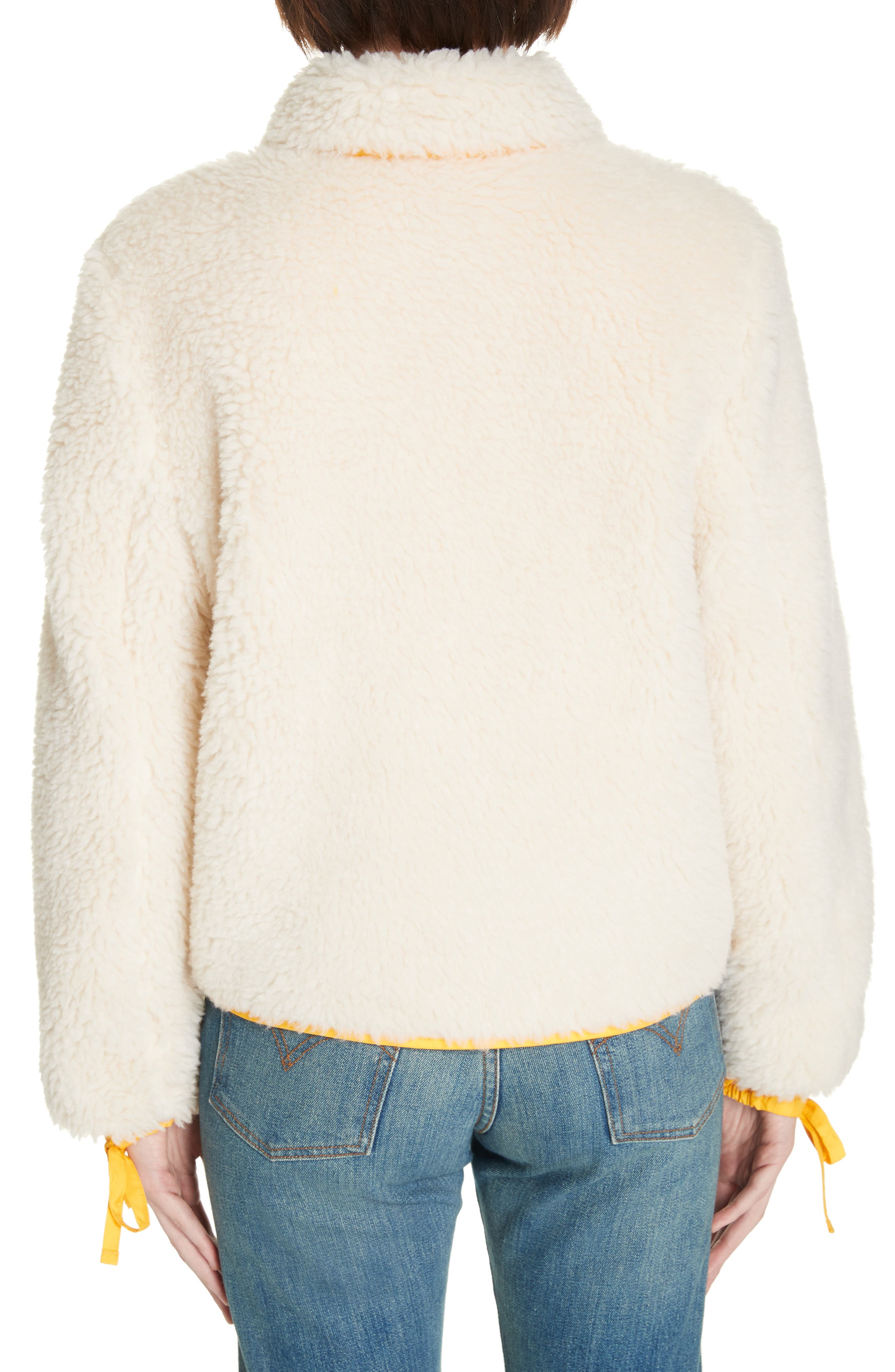 Faux Shearling Jacket,                             Alternate thumbnail 2, color,                             NEW IVORY