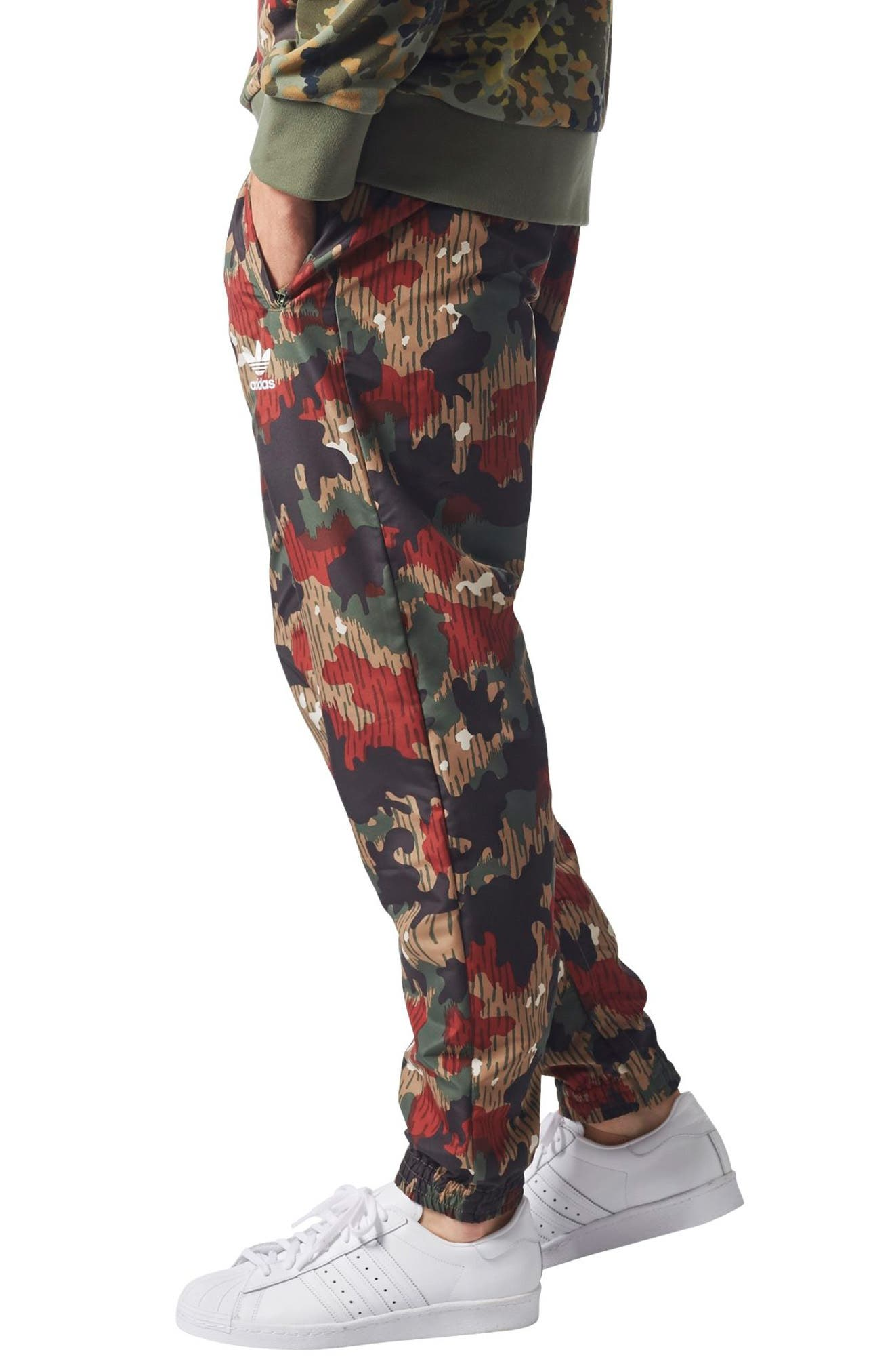Originals Pharrell Williams Hu Hiking Wind Pants,                             Alternate thumbnail 3, color,