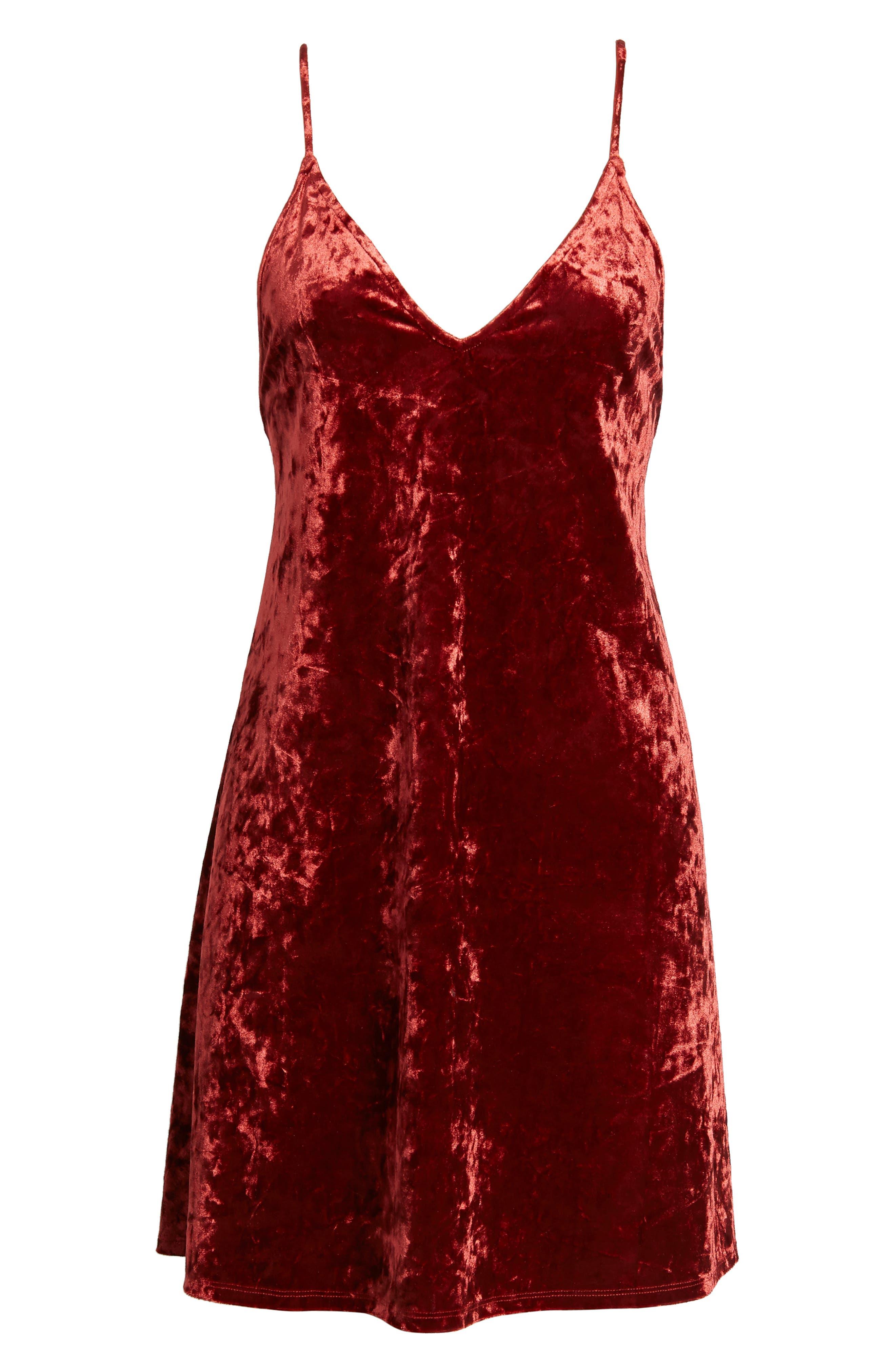 Raymore Crushed Velvet Minidress,                             Alternate thumbnail 6, color,