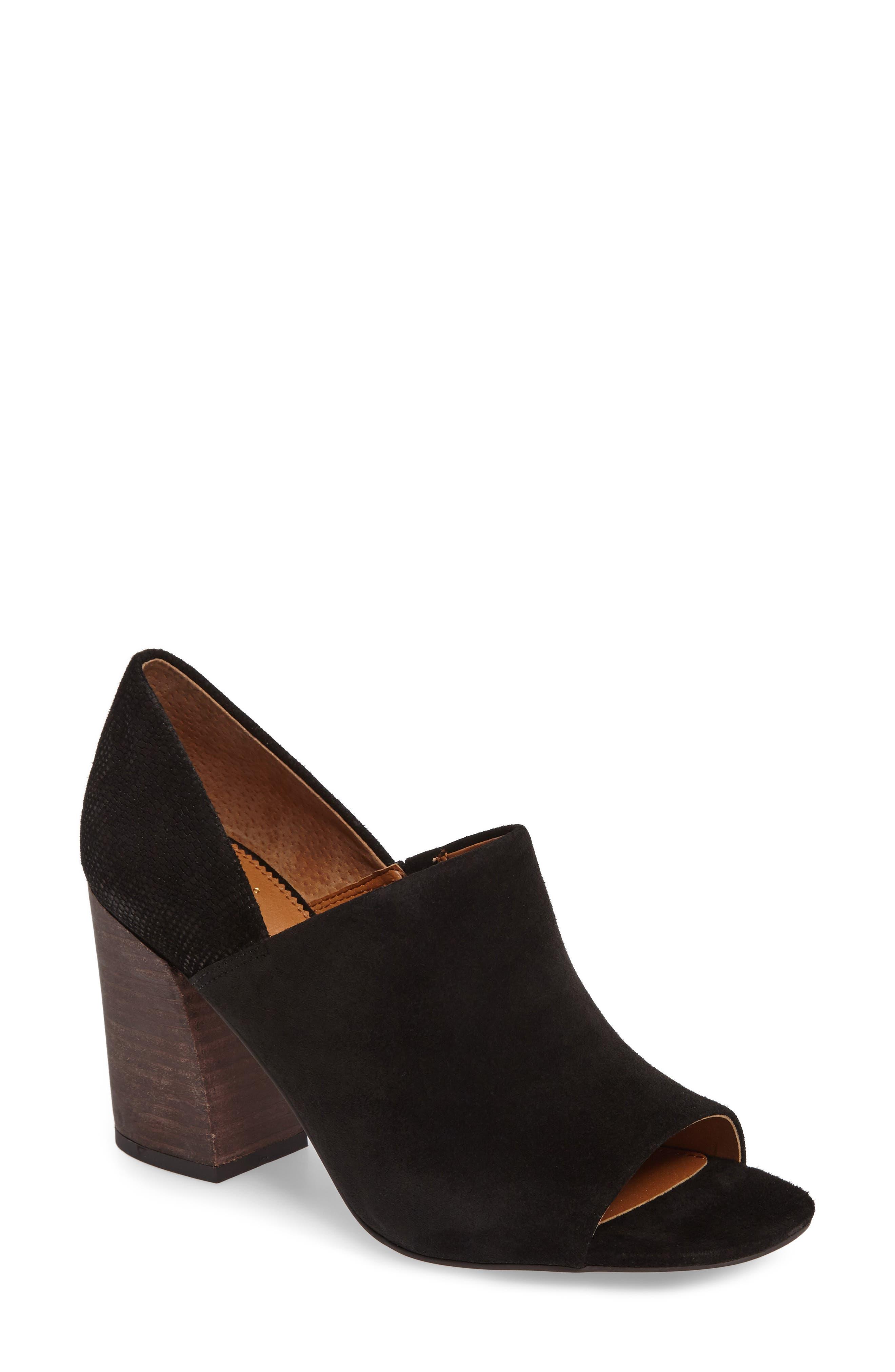 Ellison Block Heel Sandal,                             Main thumbnail 1, color,                             001