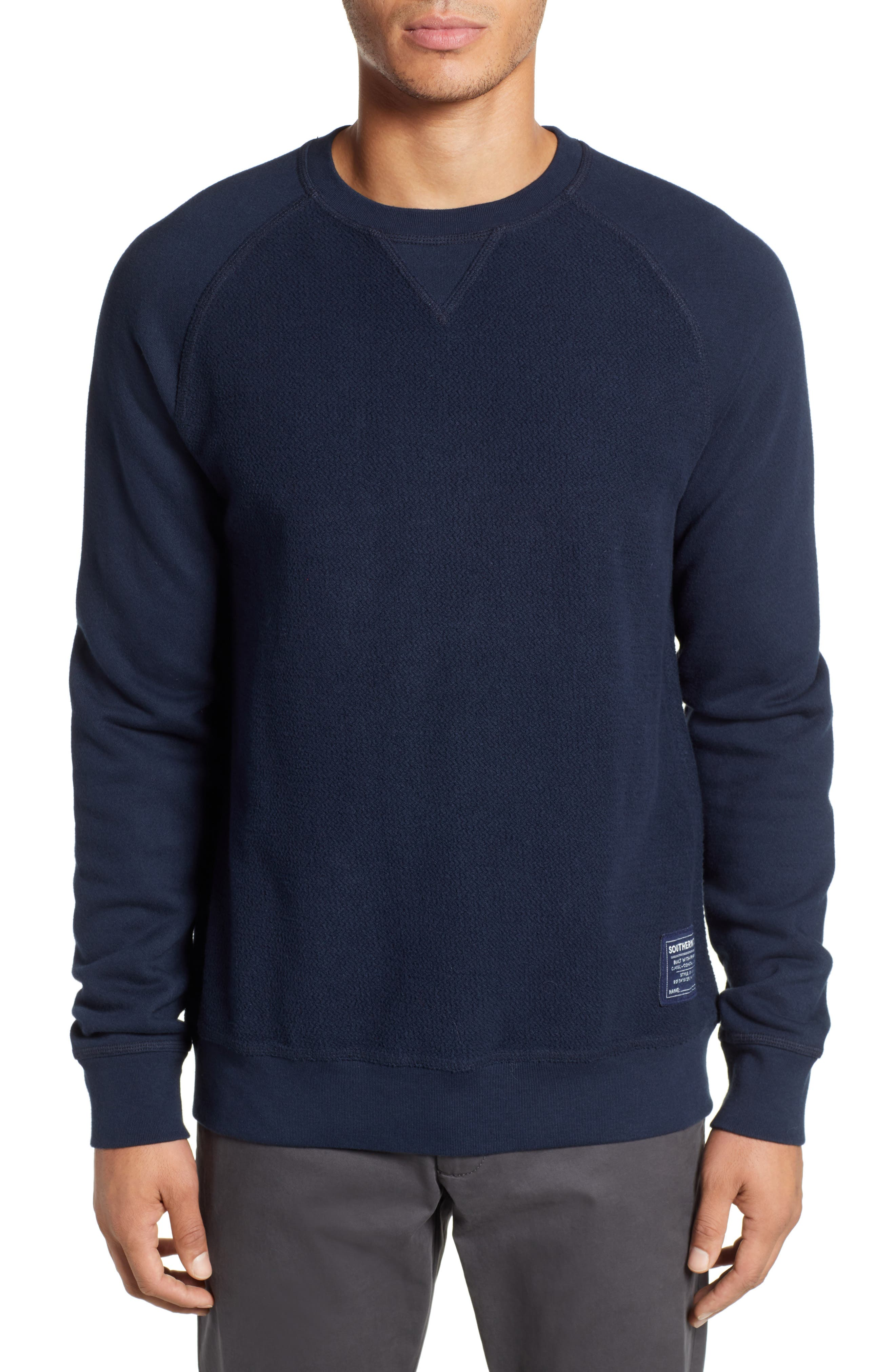 Cliff Cottage Fleece Pullover,                         Main,                         color, TRUE NAVY